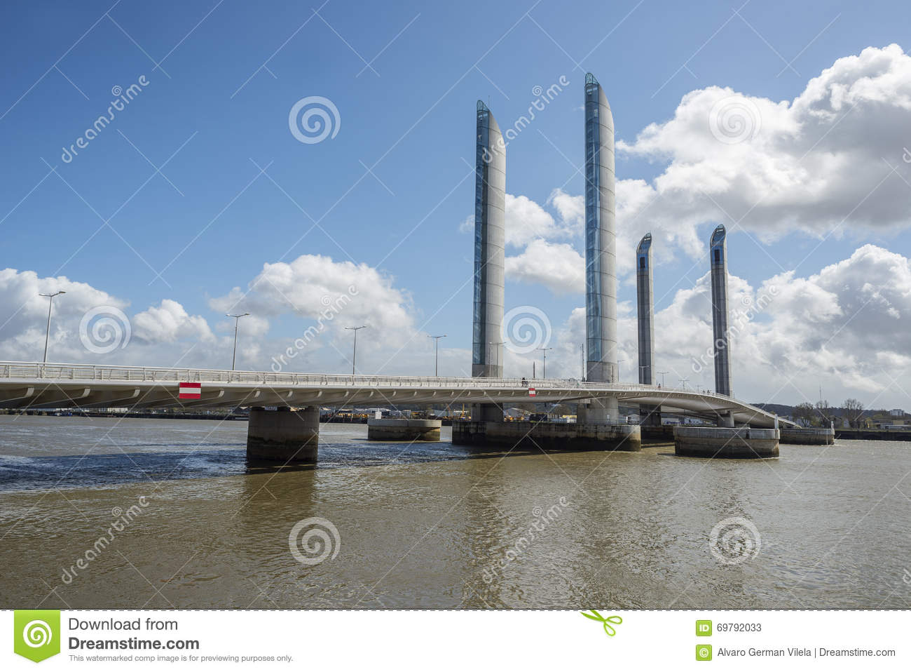 pont jacques chaban delmas in bordeaux editorial stock photo image 69792033