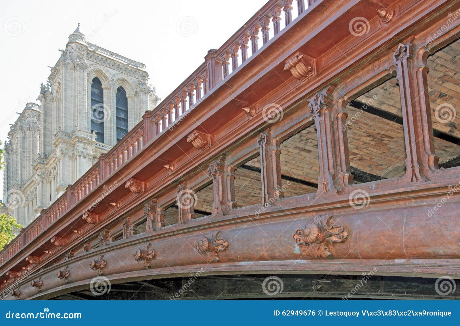 Pont kopia w Paryż, szczegółu widok (Dwoisty most) (Francja)