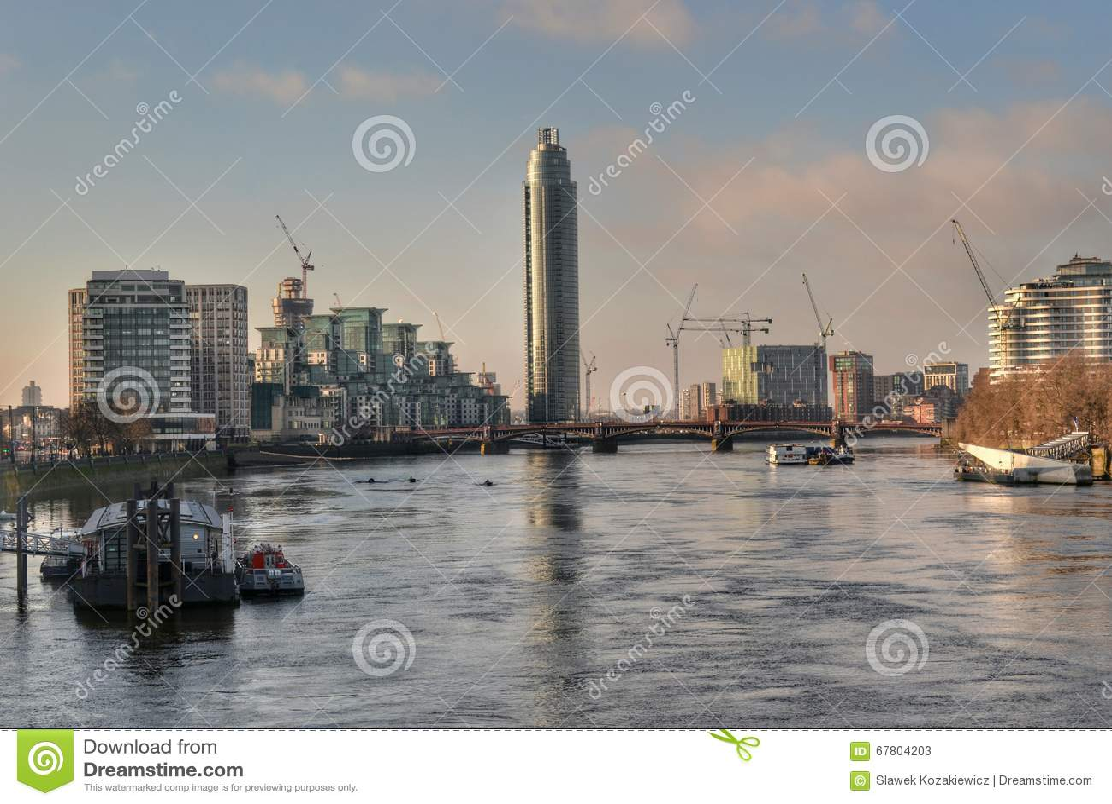 Pont Londres De La Tamise Vauxhall Photo Stock Editorial