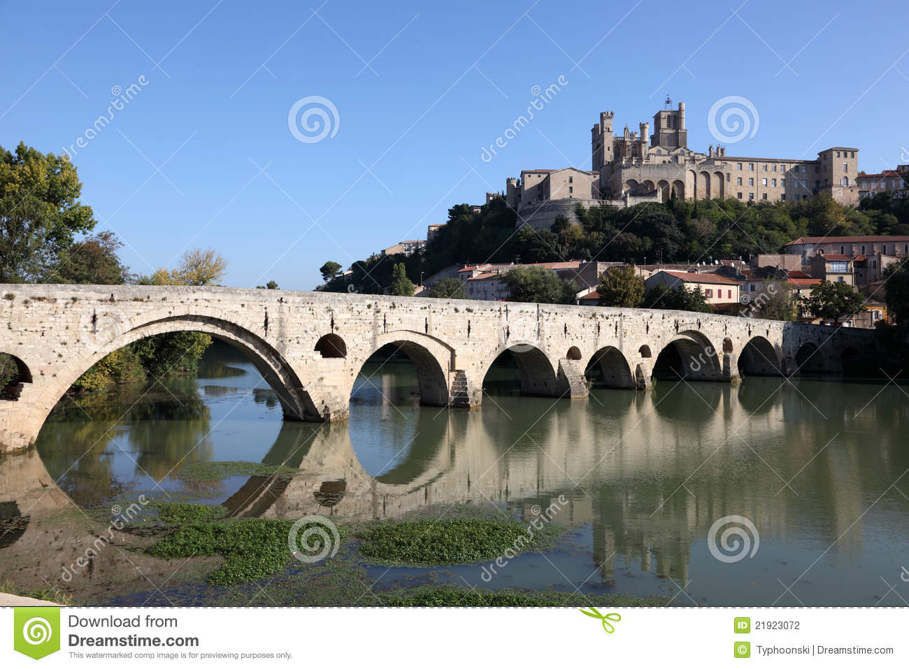 pont vieux in beziers france stock photography image 21923072. Black Bedroom Furniture Sets. Home Design Ideas