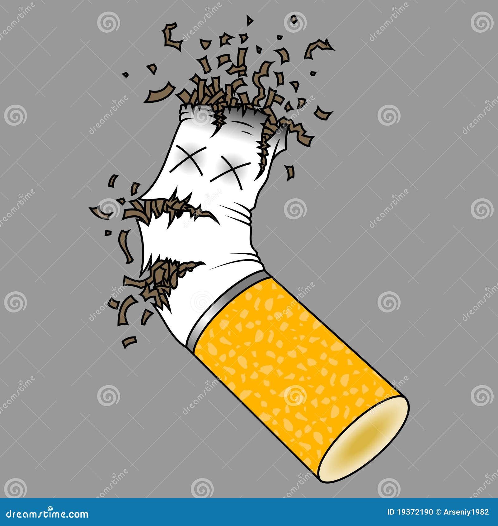 Ponta de cigarro esmagada