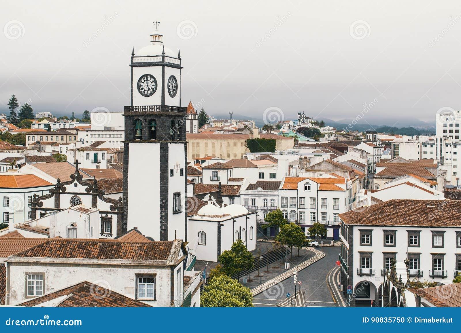 Ponta Delgada -圣米格尔岛,亚速尔群岛,葡萄牙的看法 旅行