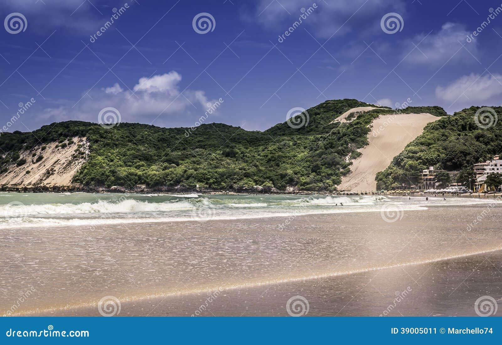 Ponta Negr diun plaża w Natal mieście