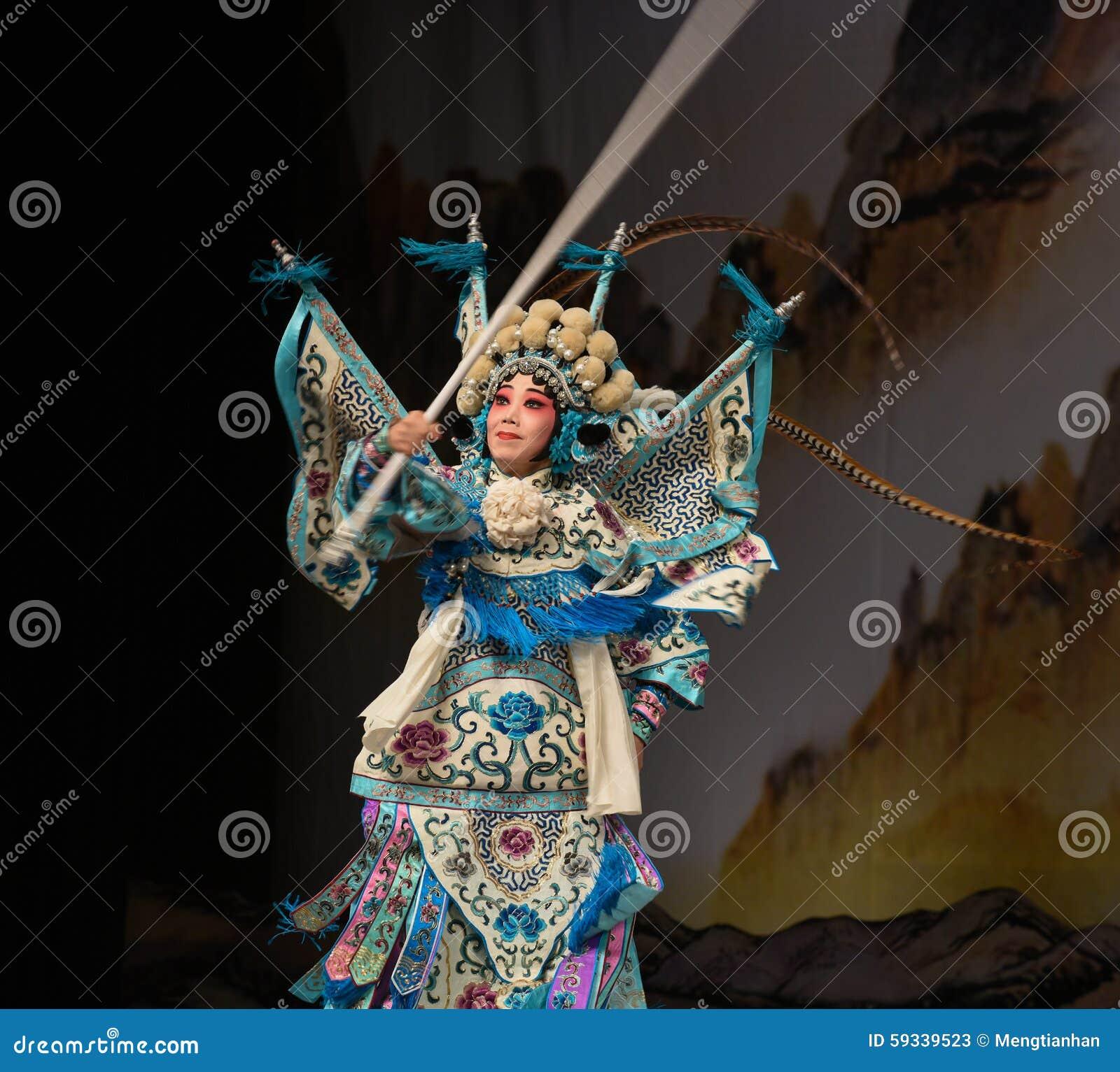 """Pontaria-olhando generais fêmeas das mulheres de Opera"""" do Pequim dos generais do  do € de Yang Familyâ"""