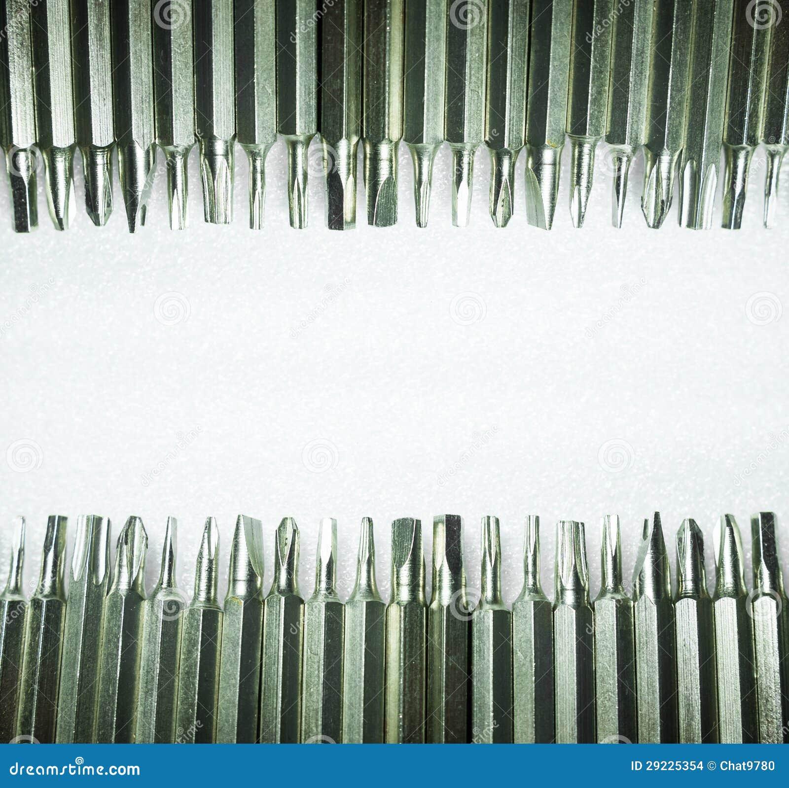 Download Pontas da chave de fenda foto de stock. Imagem de aço - 29225354