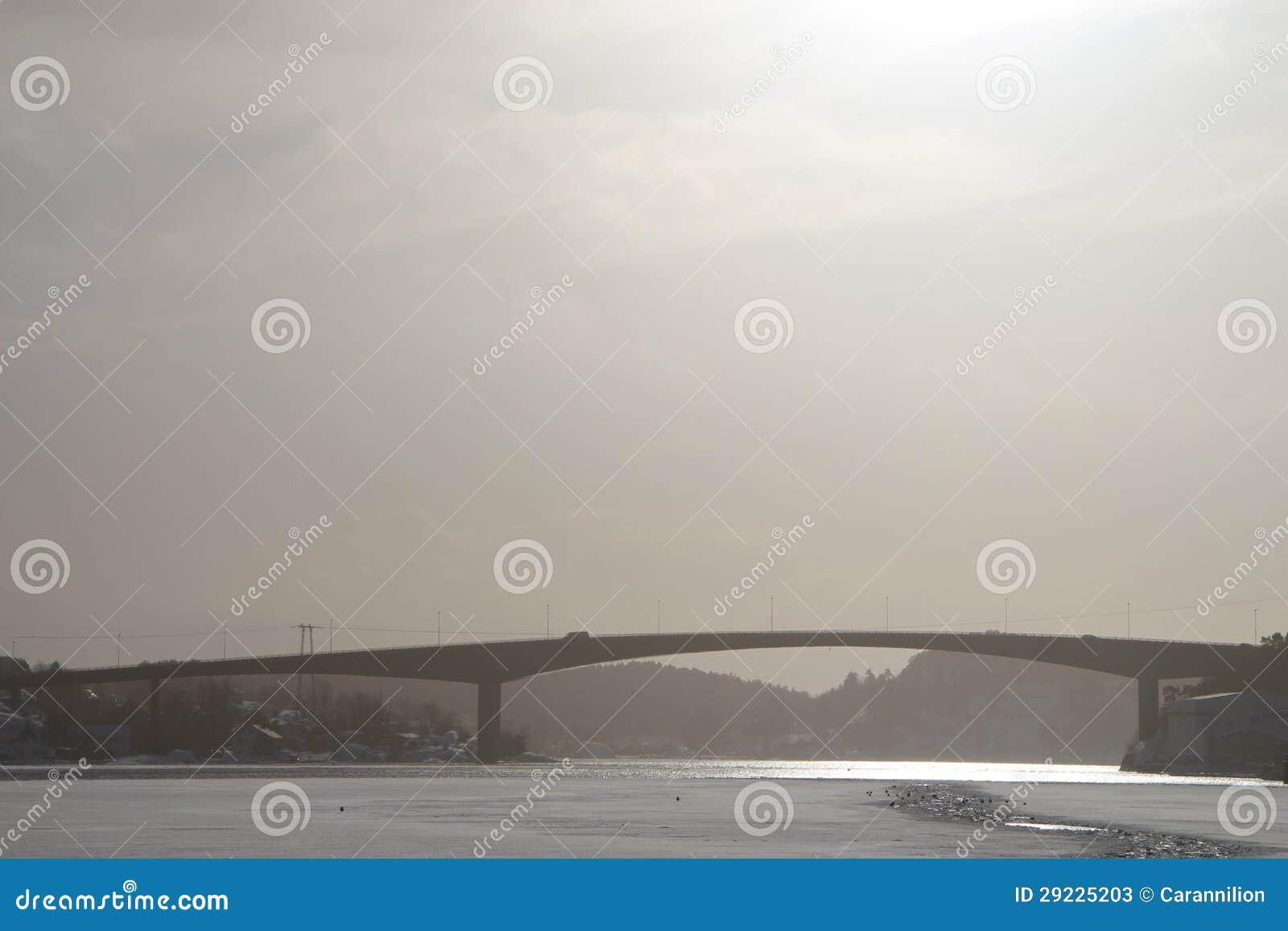Download Ponte imagem de stock. Imagem de cinzento, gelo, fjord - 29225203