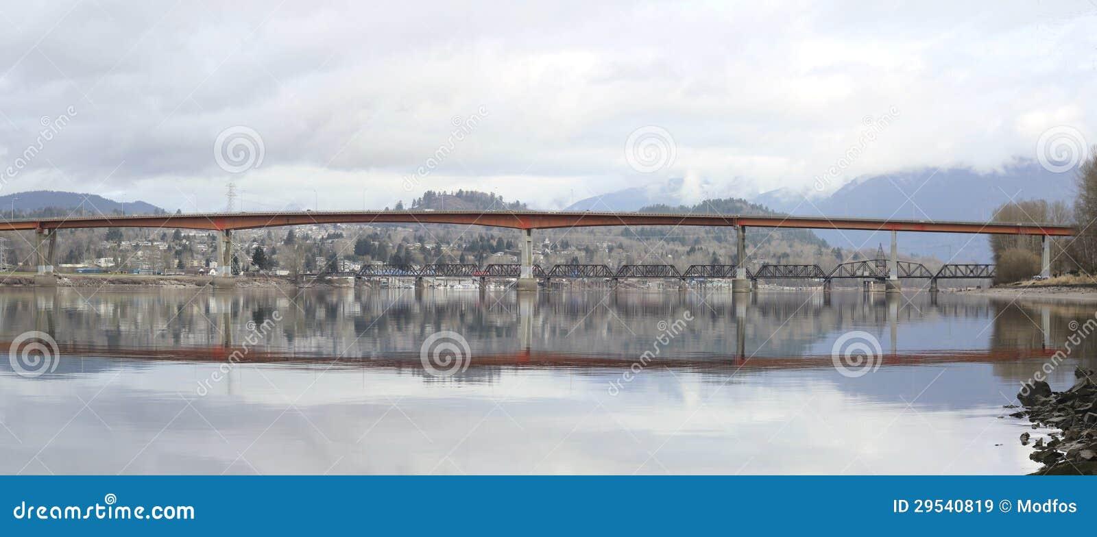 Ponte da missão no Columbia Britânica