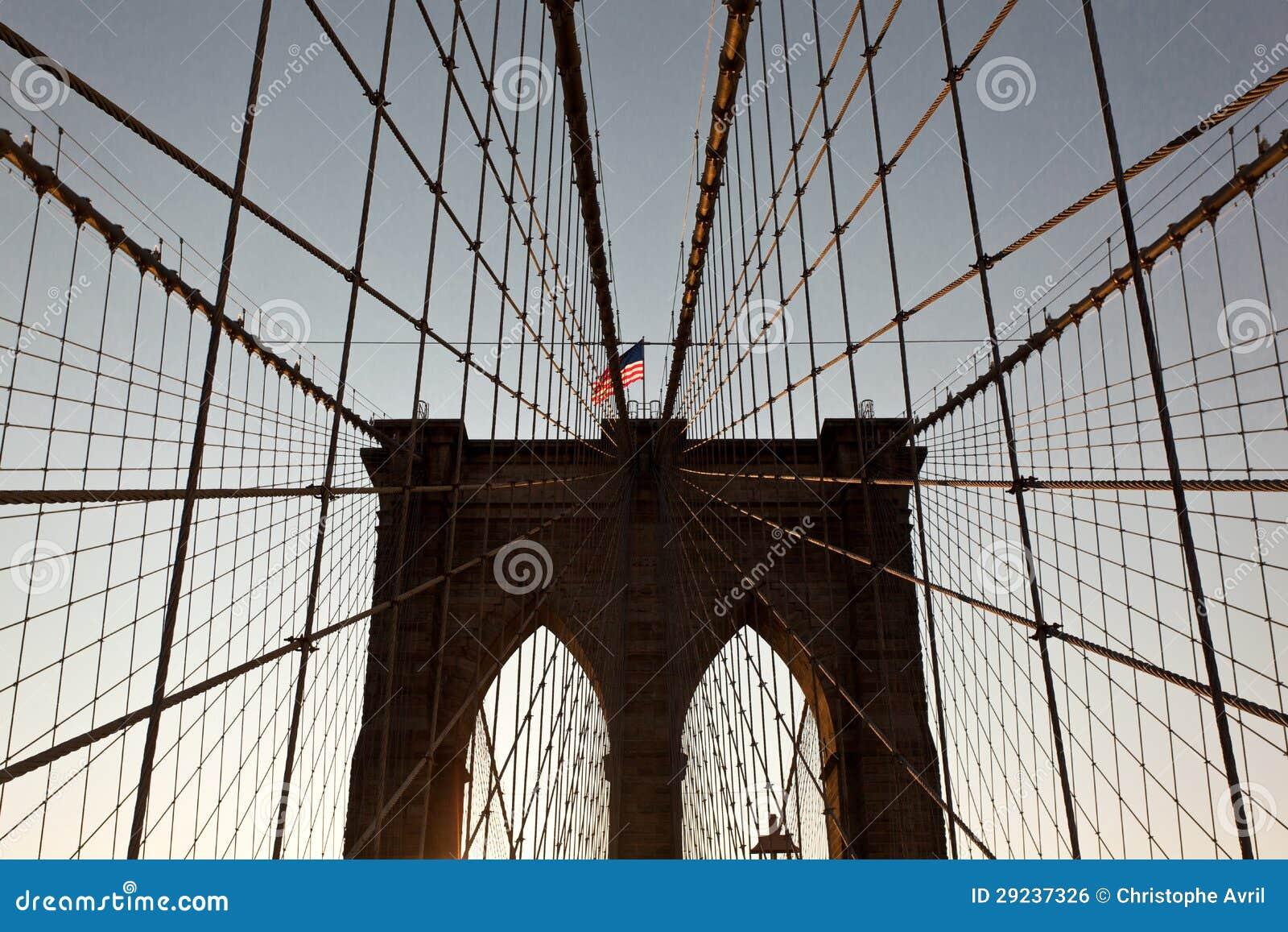 Download Ponte de Brooklyn foto de stock. Imagem de scenic, outdoors - 29237326