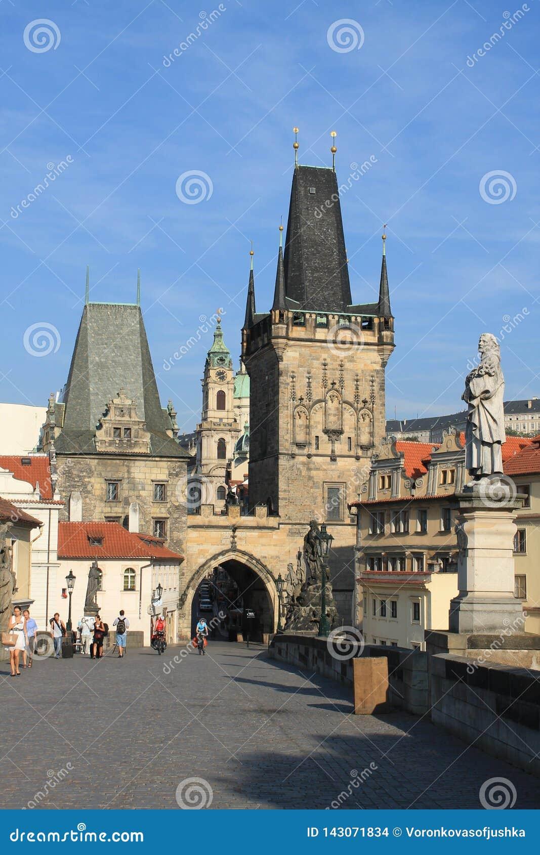Ponte de Charles na república checa de Praga