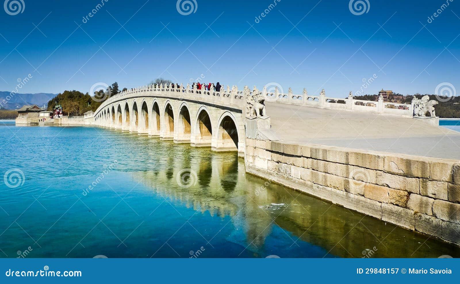 Ponte de dezessete arcos