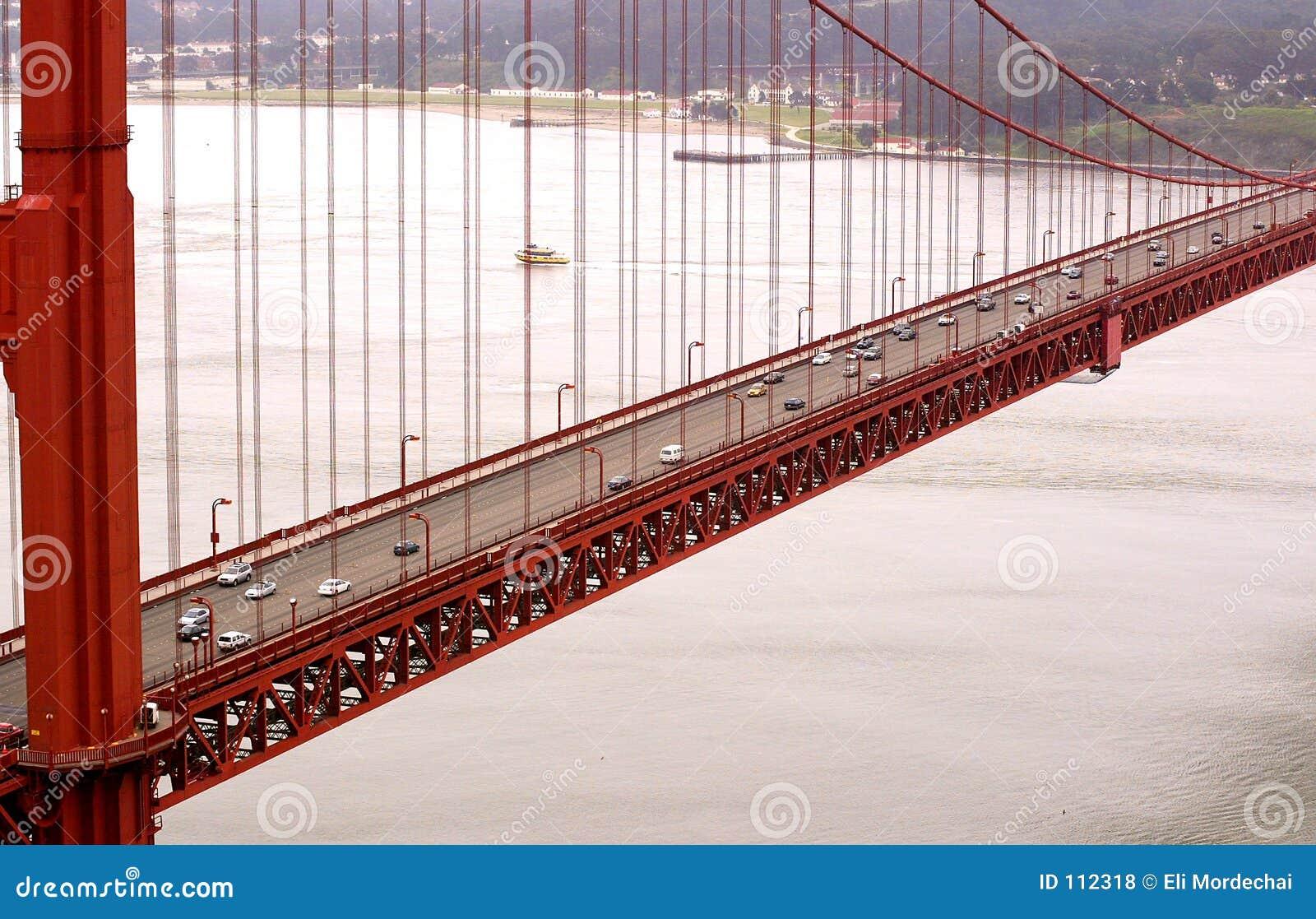 A ponte de porta dourada