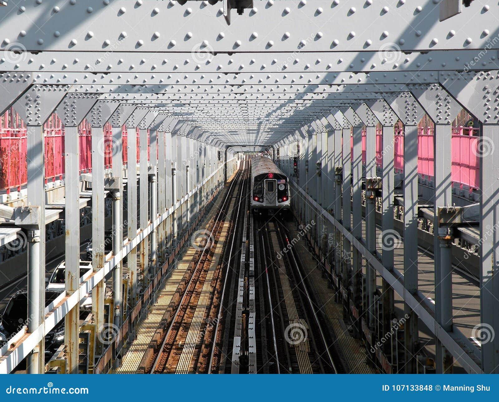 Ponte de Williamsburg do metro de New York City