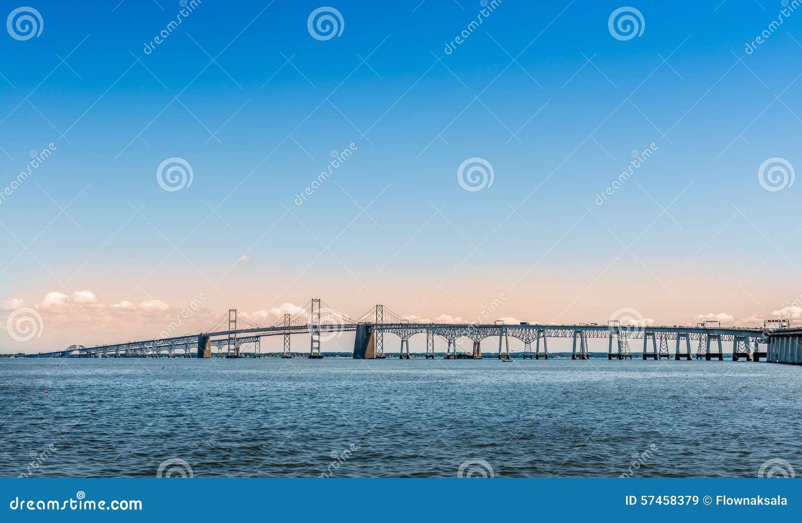 Ponte della baia di Chesapeake in Marland