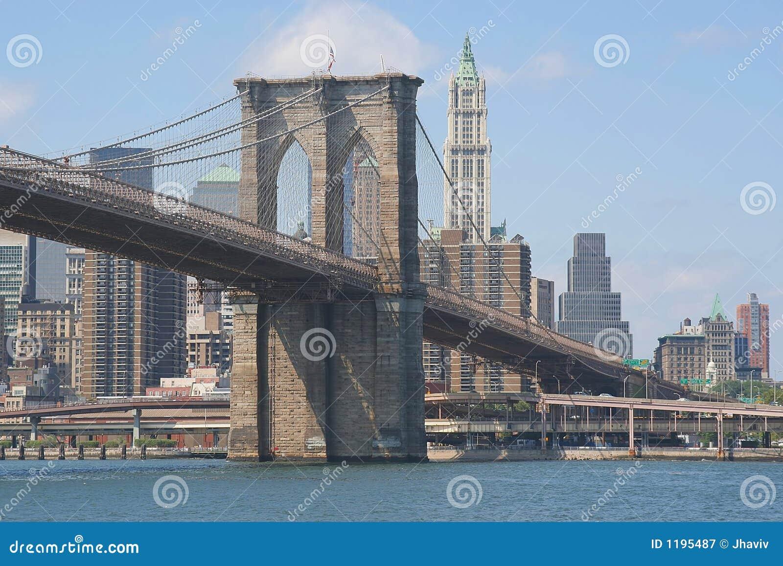 Ponte di brooklyn immagine stock immagine di grande for Disegni di ponte anteriore