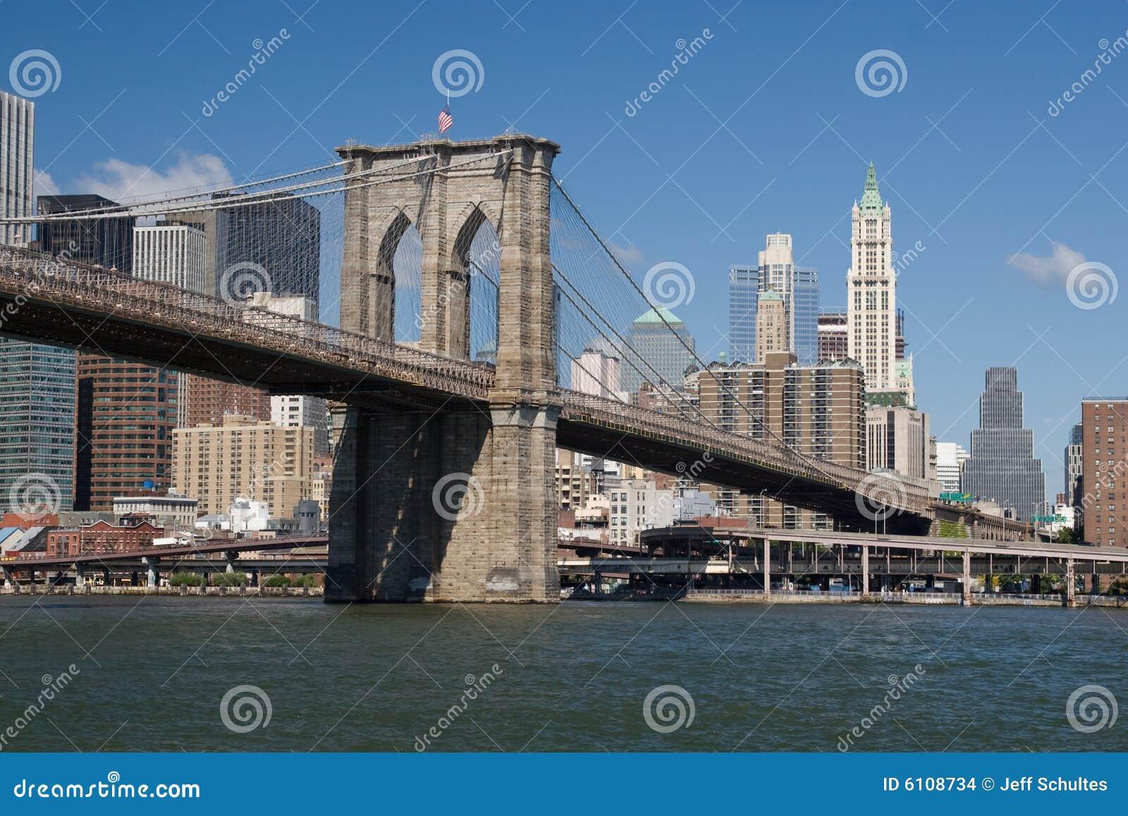 Ponte di brooklyn fotografia stock immagine di ponticello for Disegni di ponte anteriore