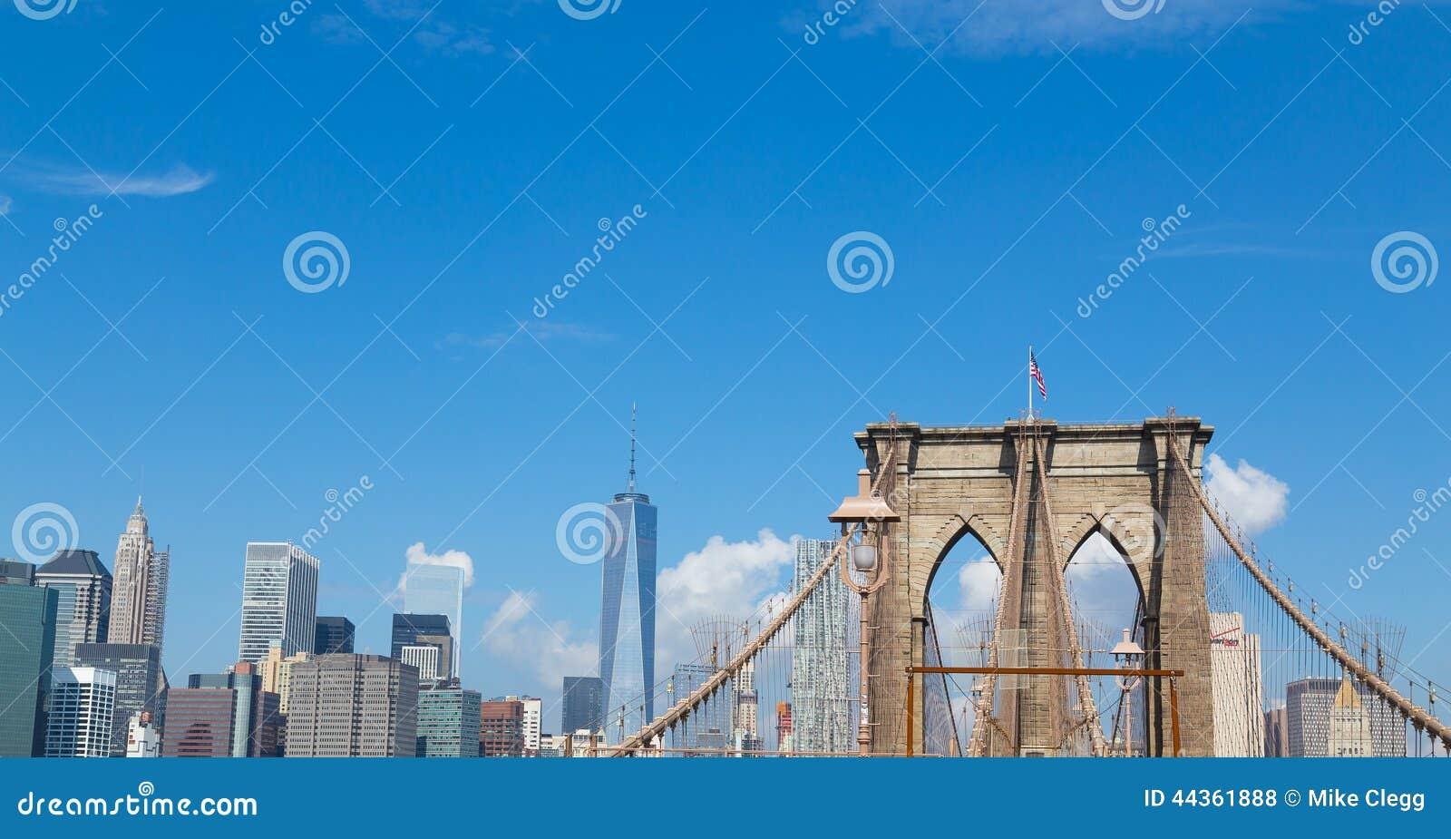 Ponte di Brooklyn e del centro