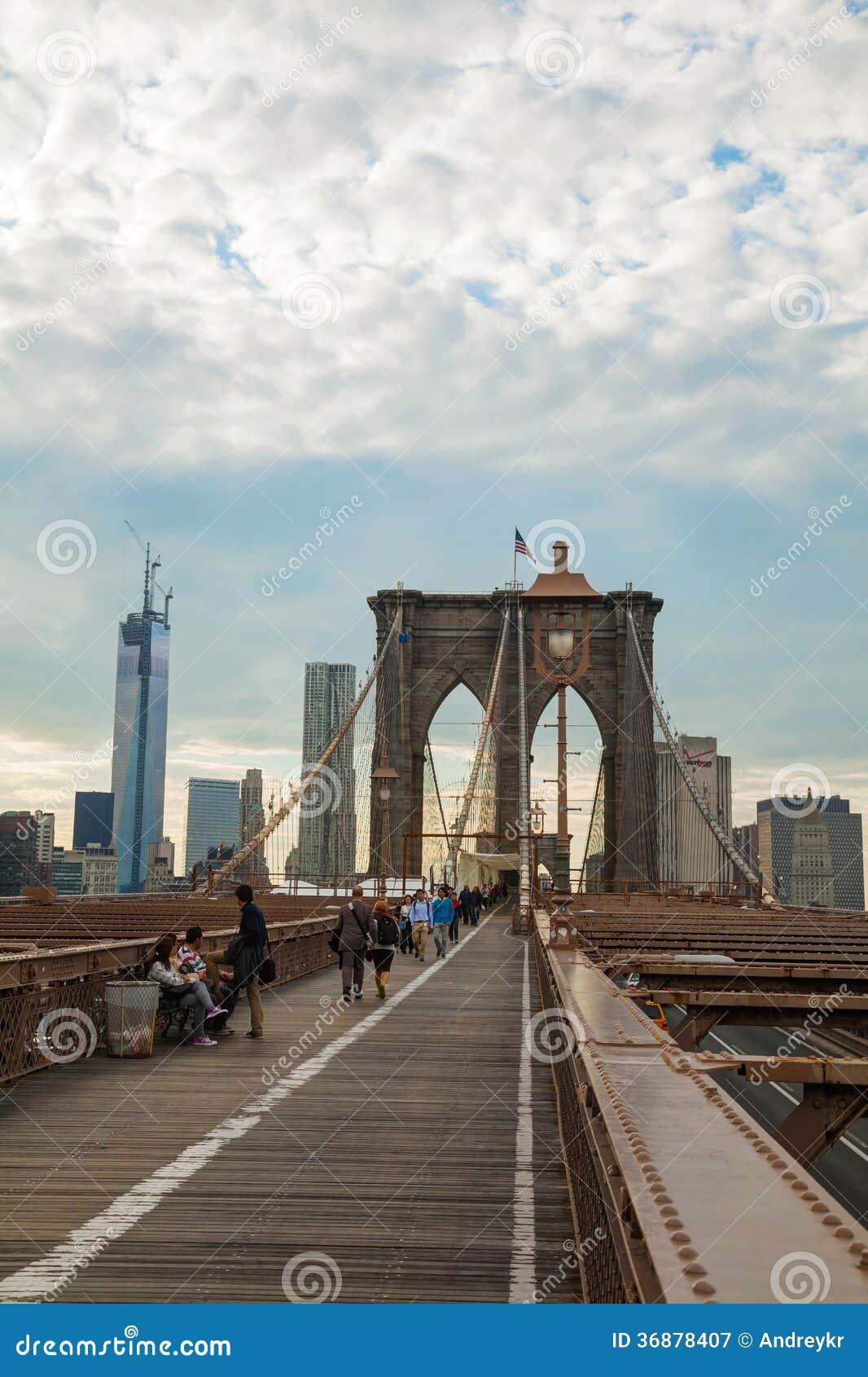 Download Ponte Di Brooklyn In New York Fotografia Editoriale - Immagine di urbano, york: 36878407