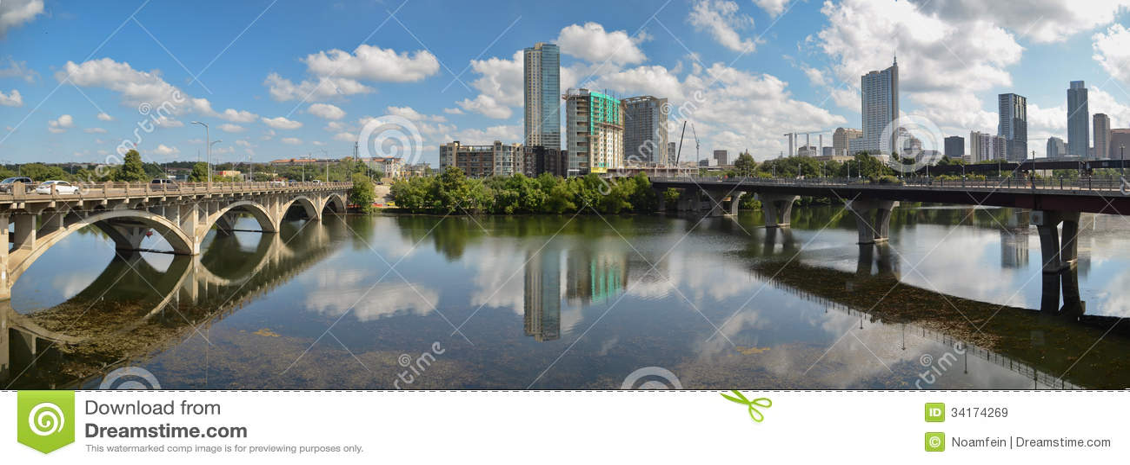 Ponte di Lamar e Austin Texas del centro