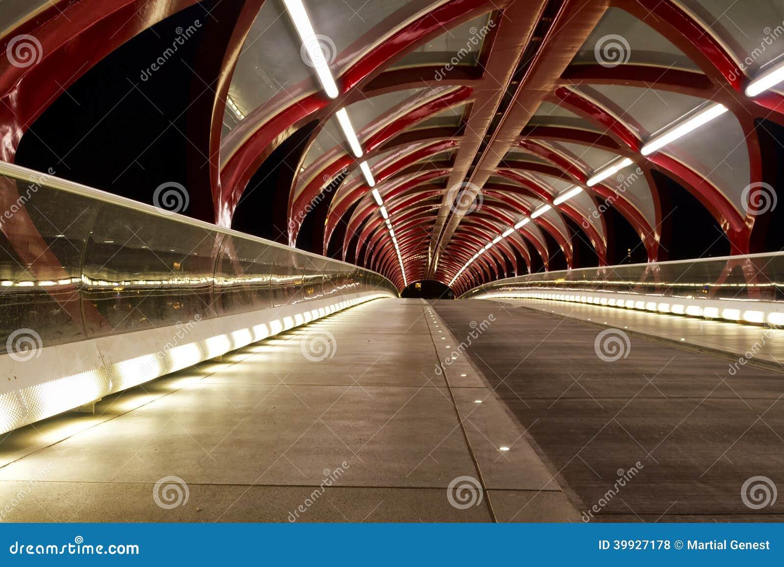 Ponte di pace di notte