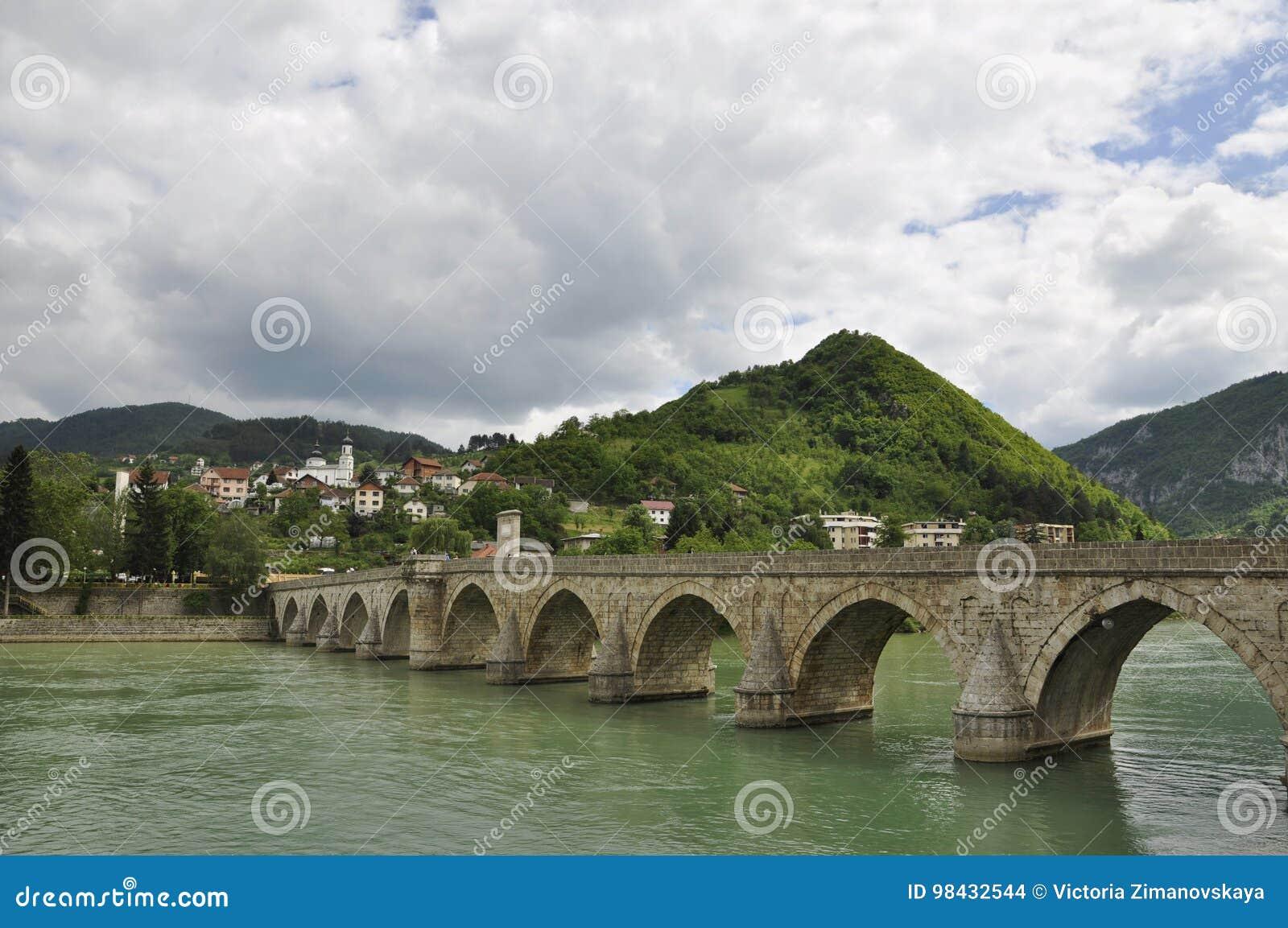 Ponte di Visegrad, o il ponte di Mehmed Pasha, Visegrad, Bosnia-Erzegovina