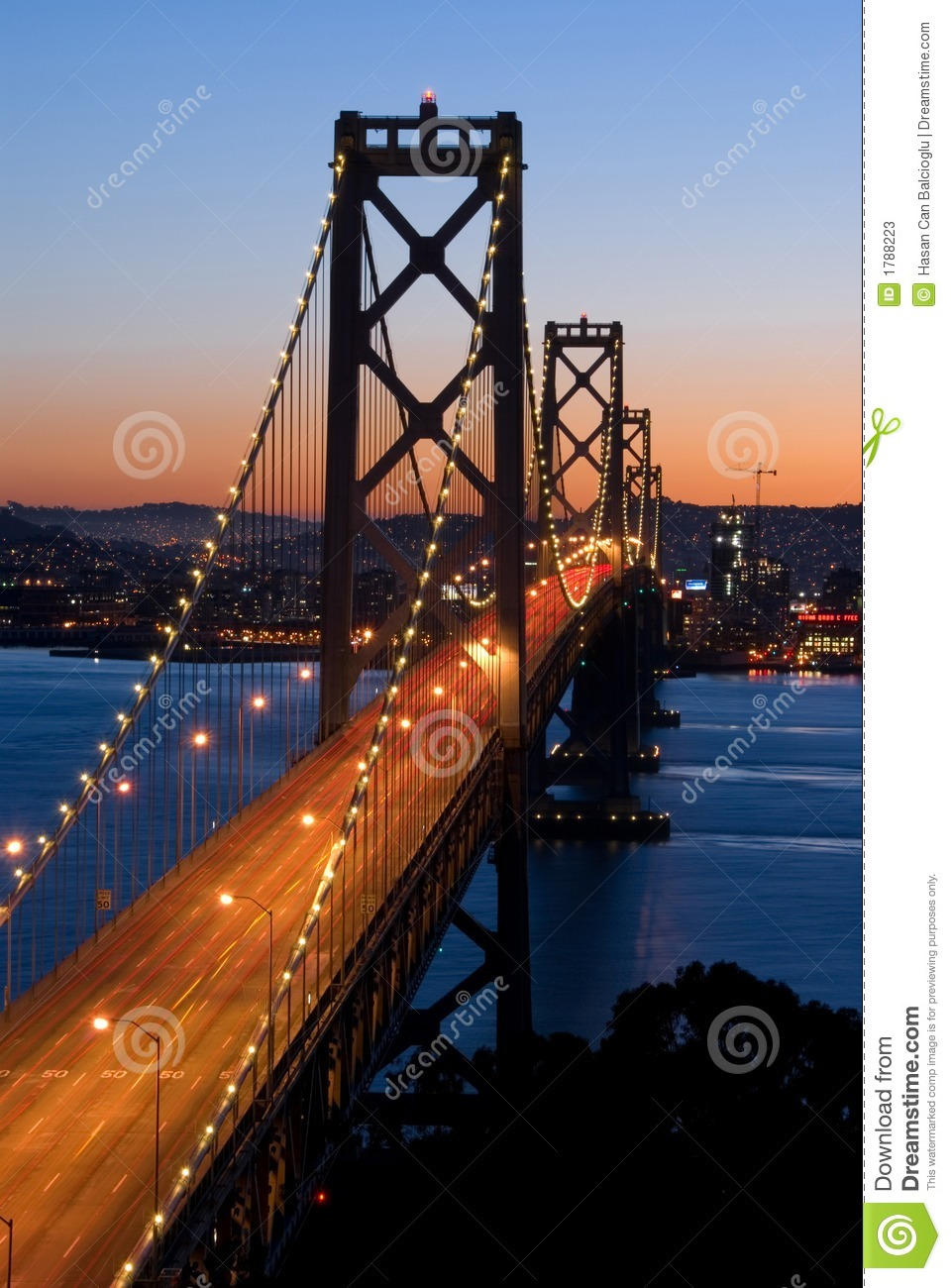 Ponte do louro, San Francisco no por do sol