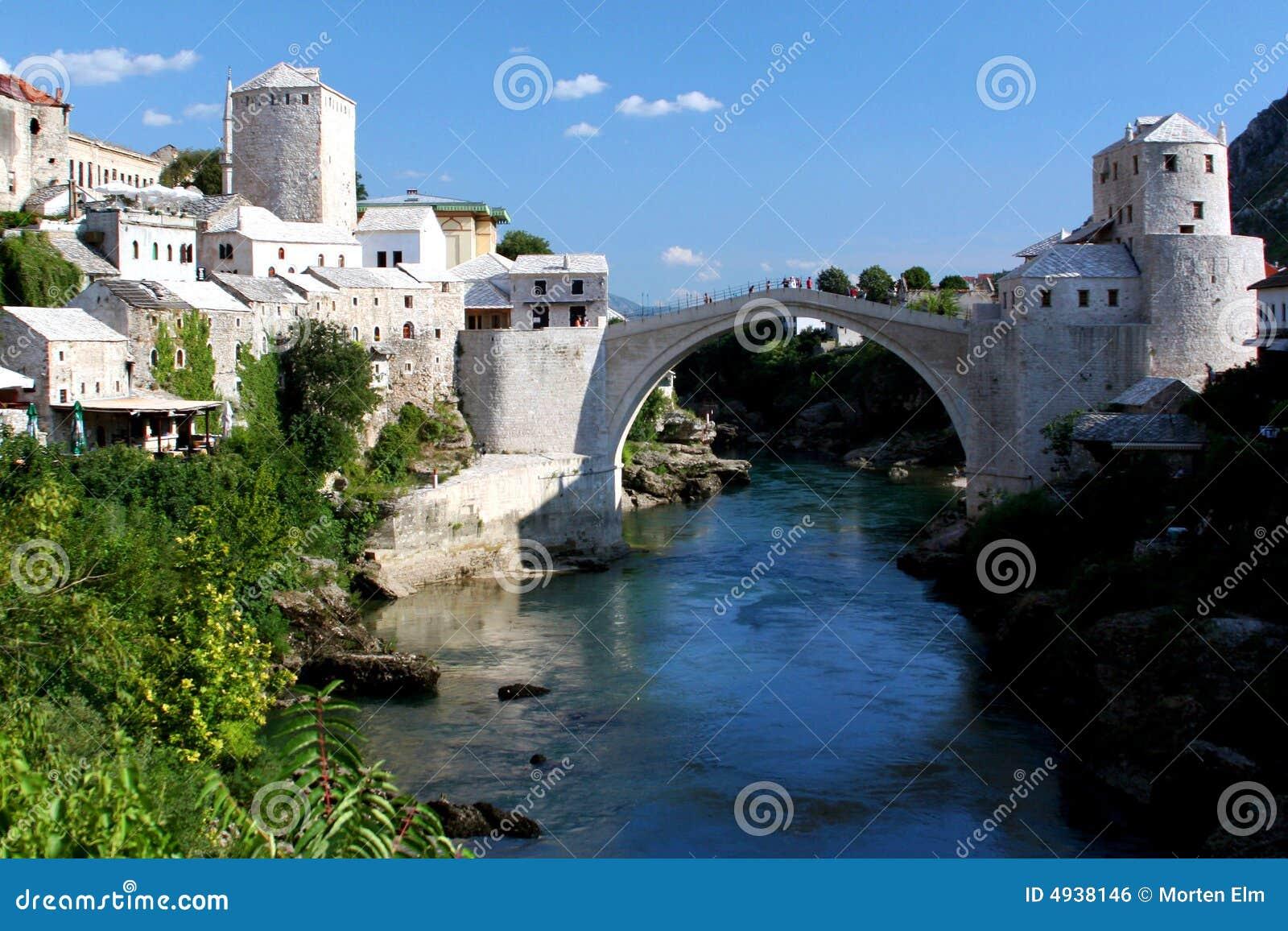 A ponte famosa de Mostar