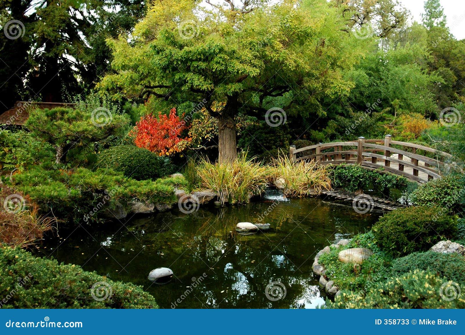 Ponte japonesa do jardim