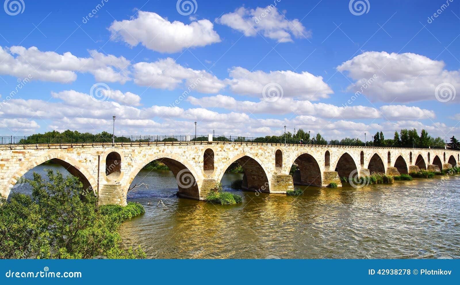Ponte medievale sopra il fiume duero zamora, spagna