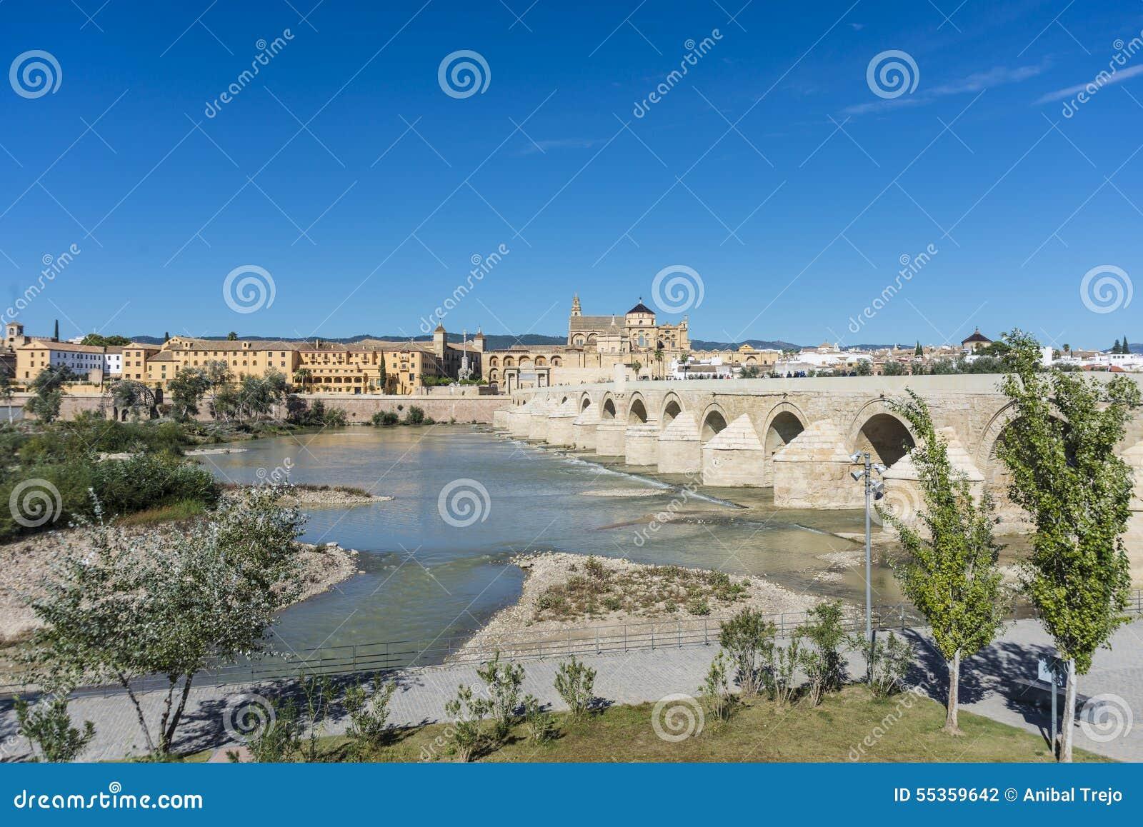 Ponte romano a Cordova, Andalusia, Spagna del sud