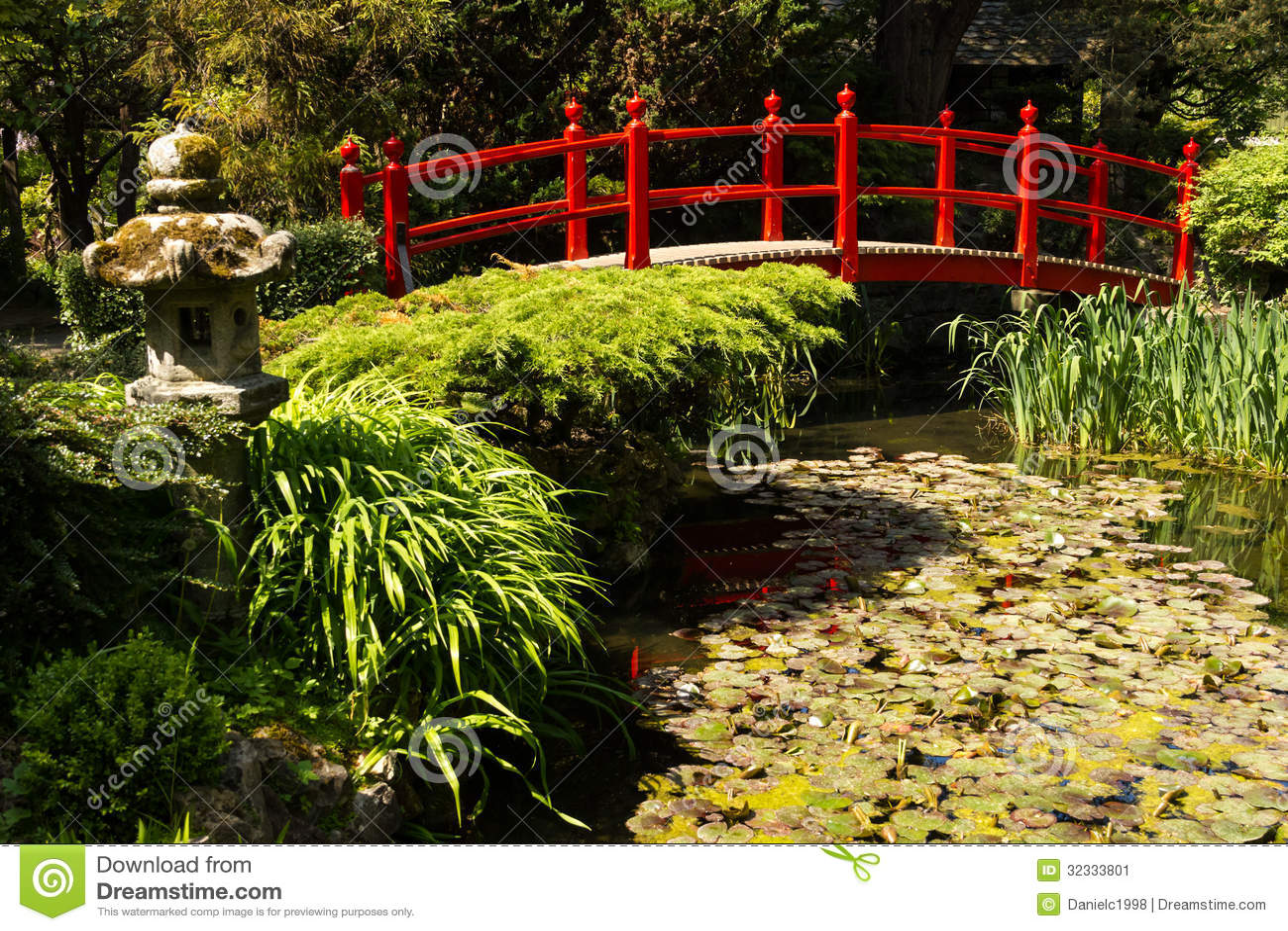 Ponte rosso i giardini giapponesi del perno nazionale - Giardini giapponesi ...