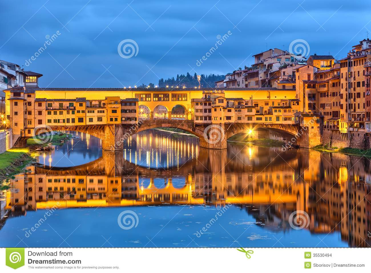 Ponte Vecchio in Florence stock photo. Image of history ...