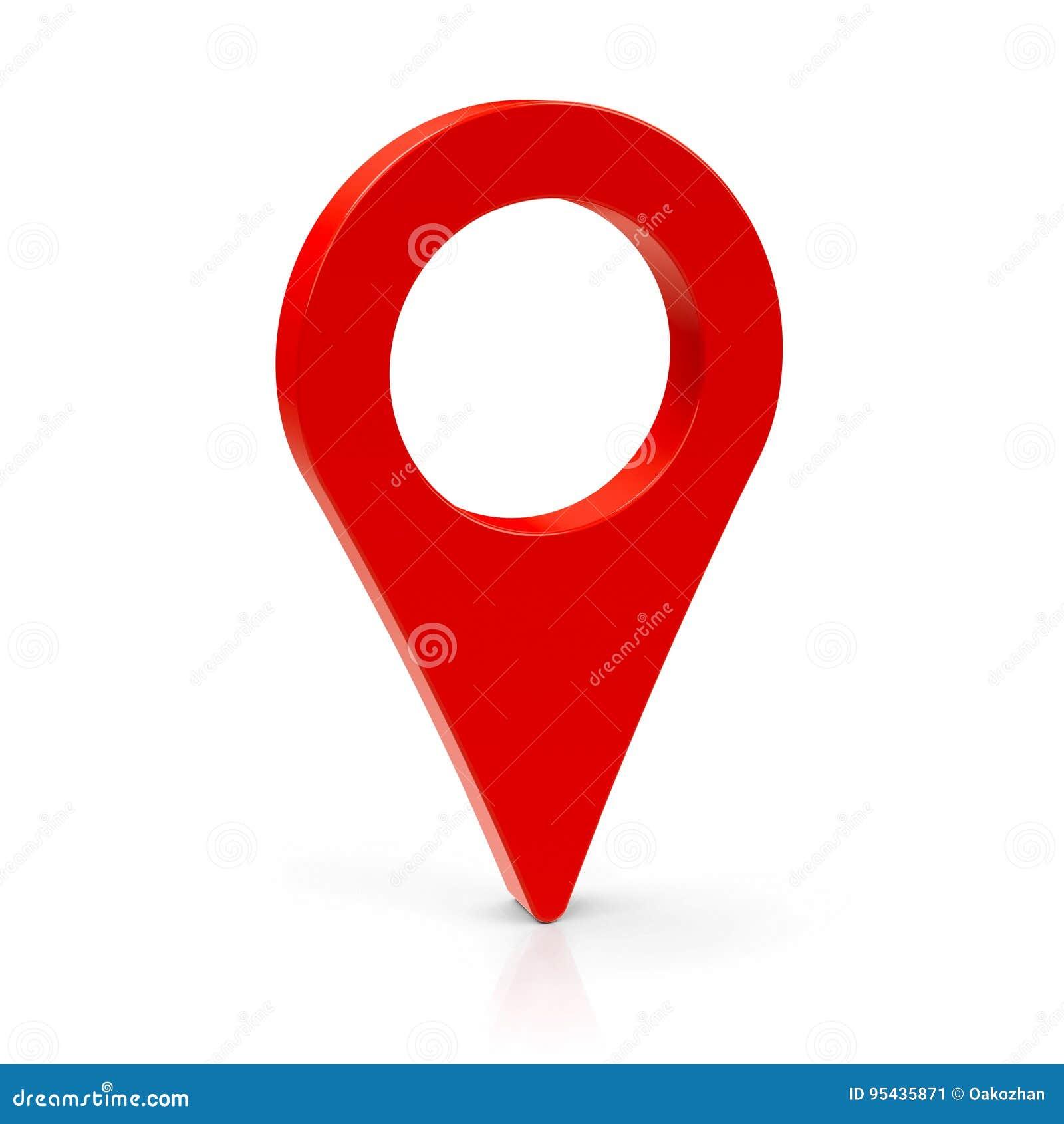 Ponteiro vermelho 3 do mapa
