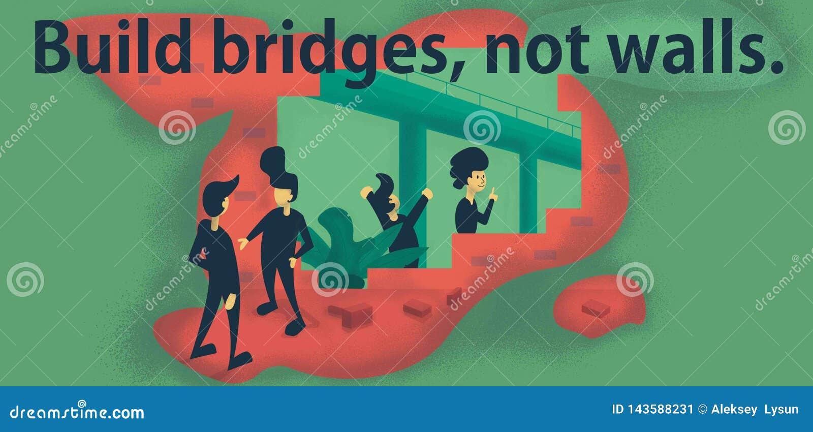 Pontes da construção, não paredes