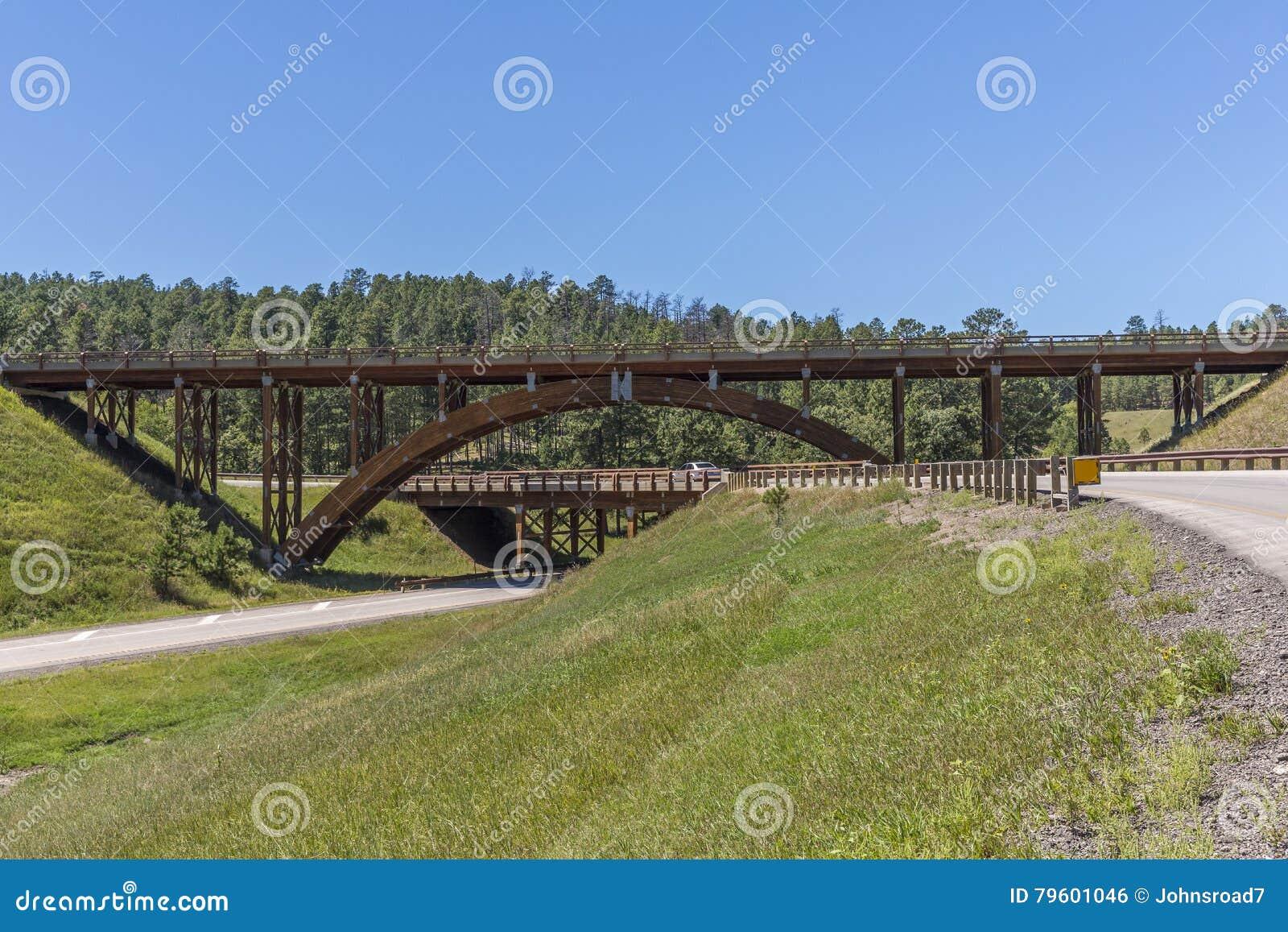 Pontes de madeira do intercâmbio