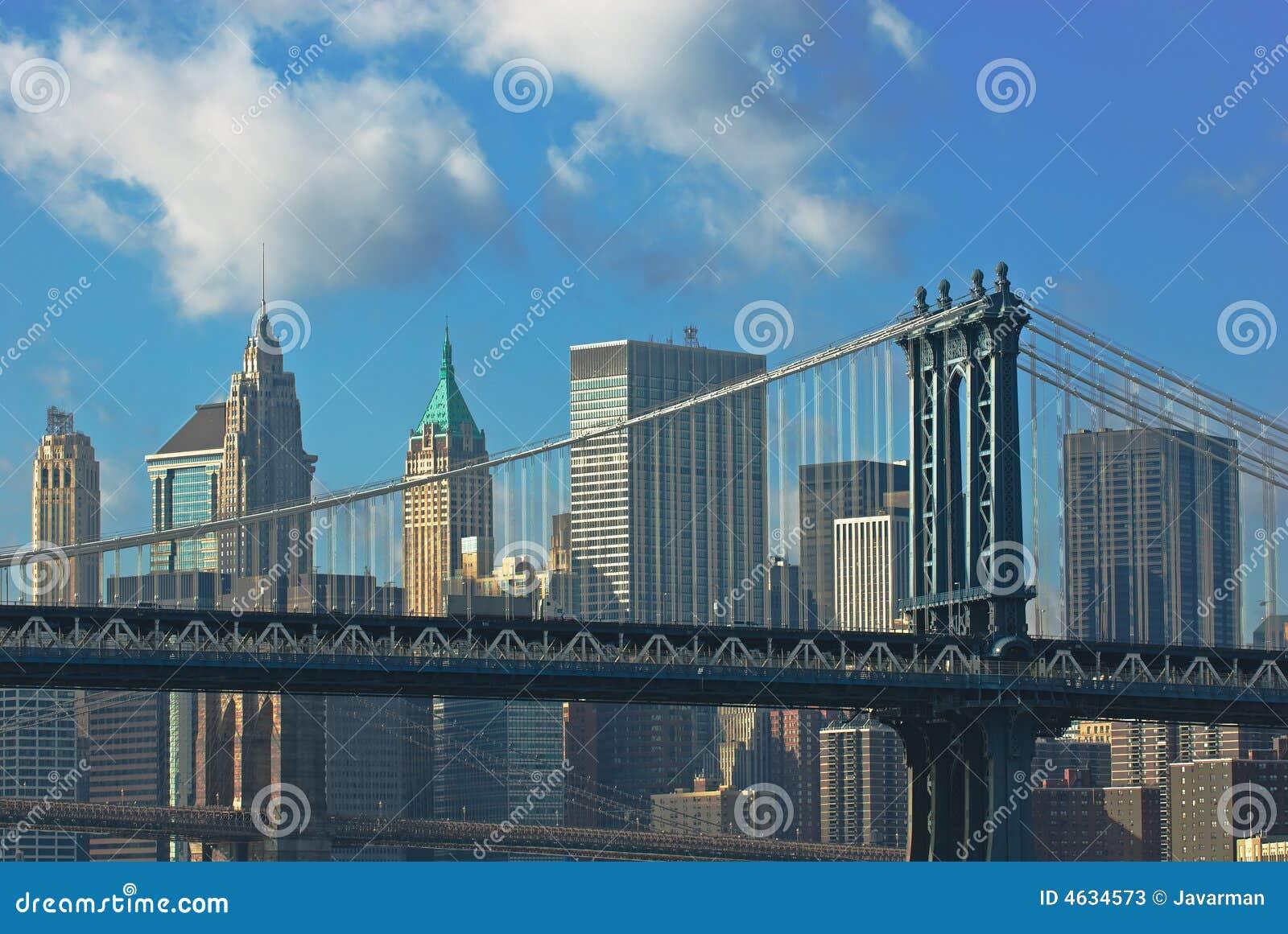 Pontes de Manhattan e de Brooklyn
