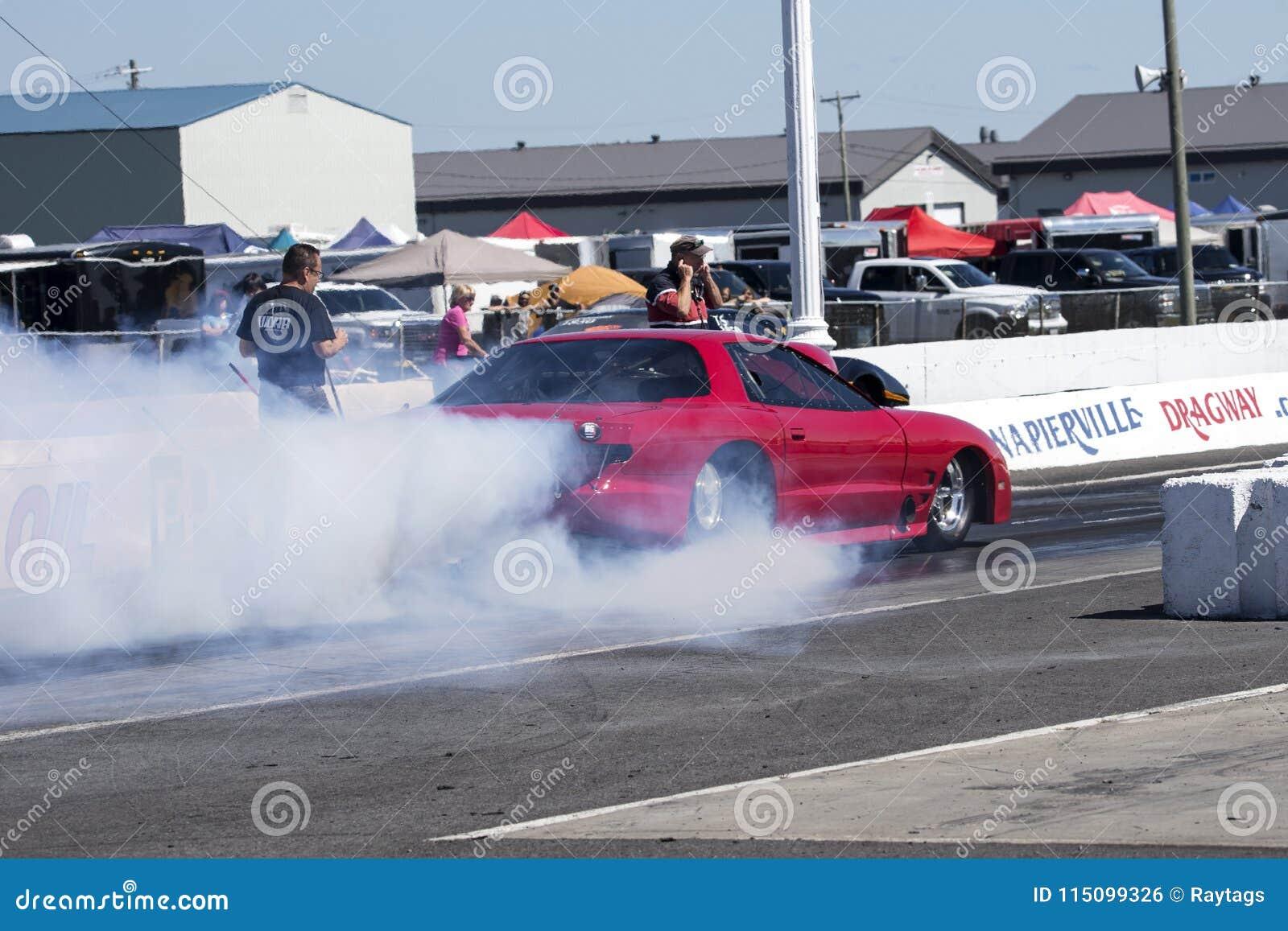 Pontiac Firebird Drag Car Making A Smoke Show On The Track Editorial ...