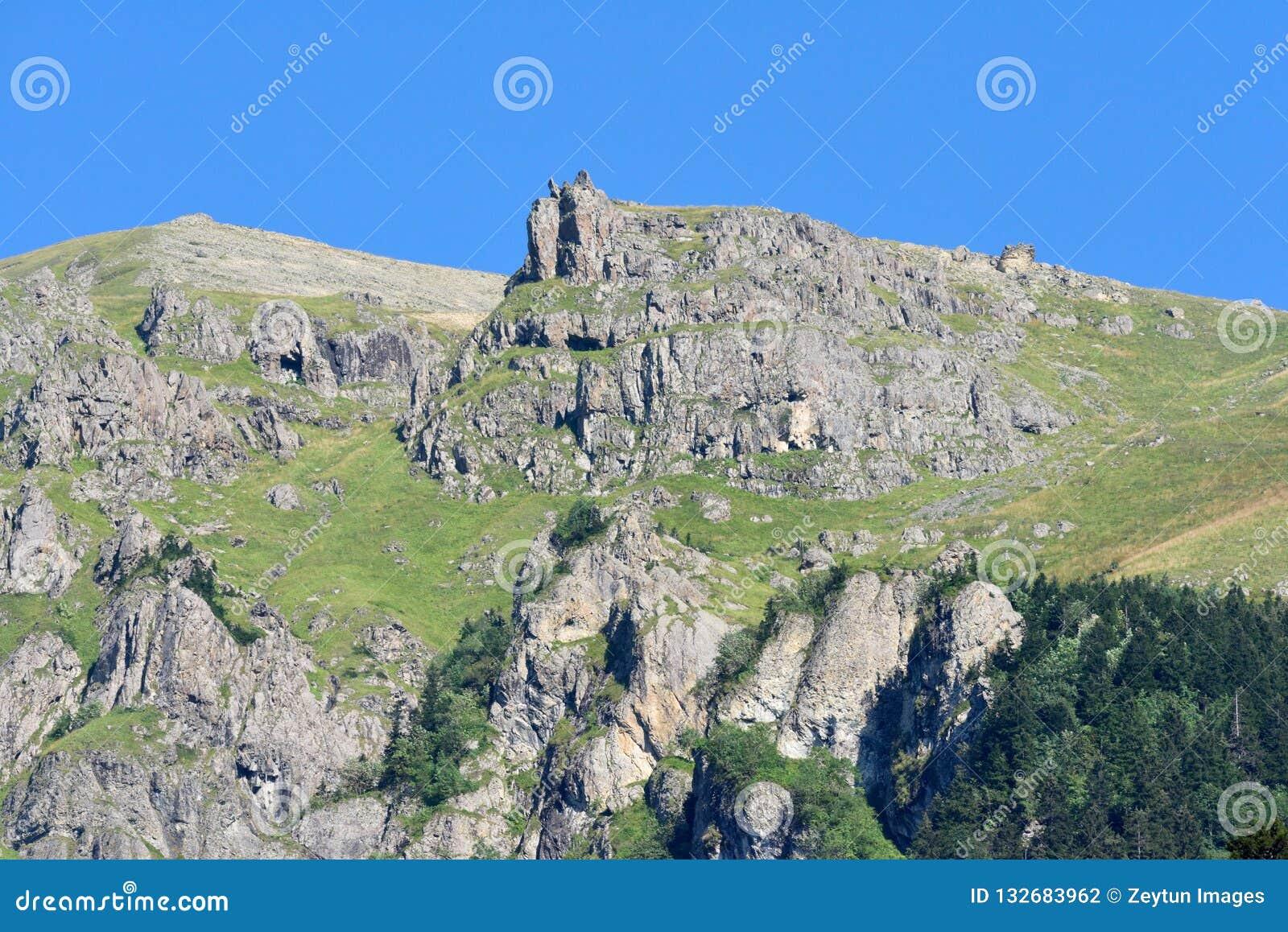 Pontic Mountains On The Black Sea Coast Of Turkey Stock Photo