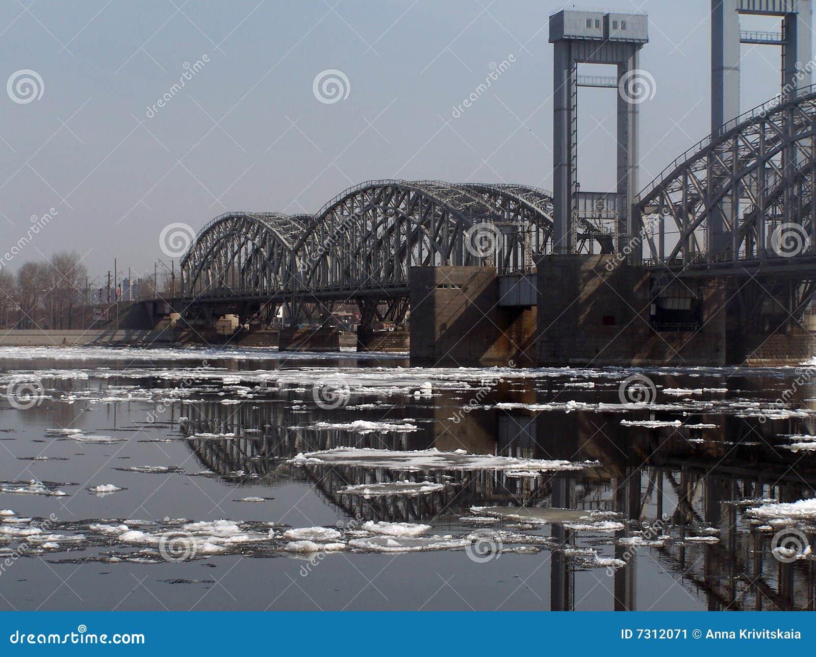 Ponticello attraverso il fiume Neva