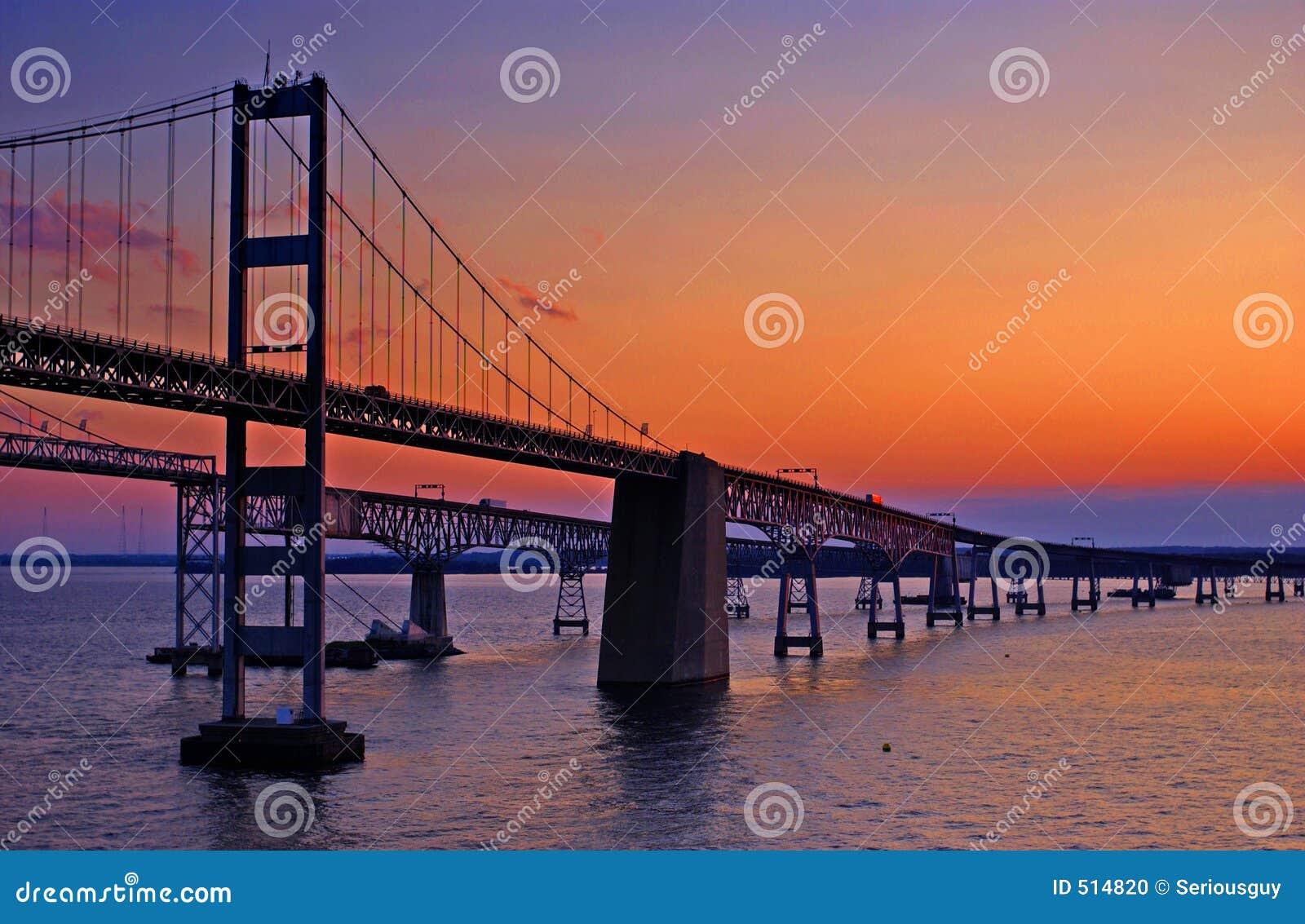 Ponticello della baia di Chesapeake all alba