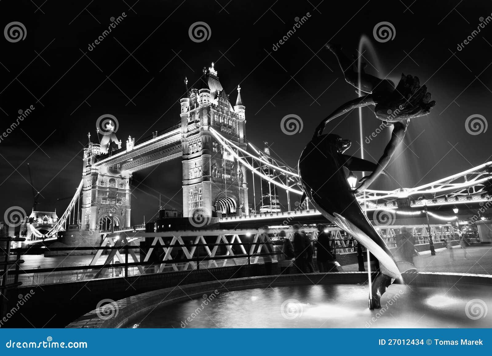 Ponticello famoso della torretta a Londra, Inghilterra
