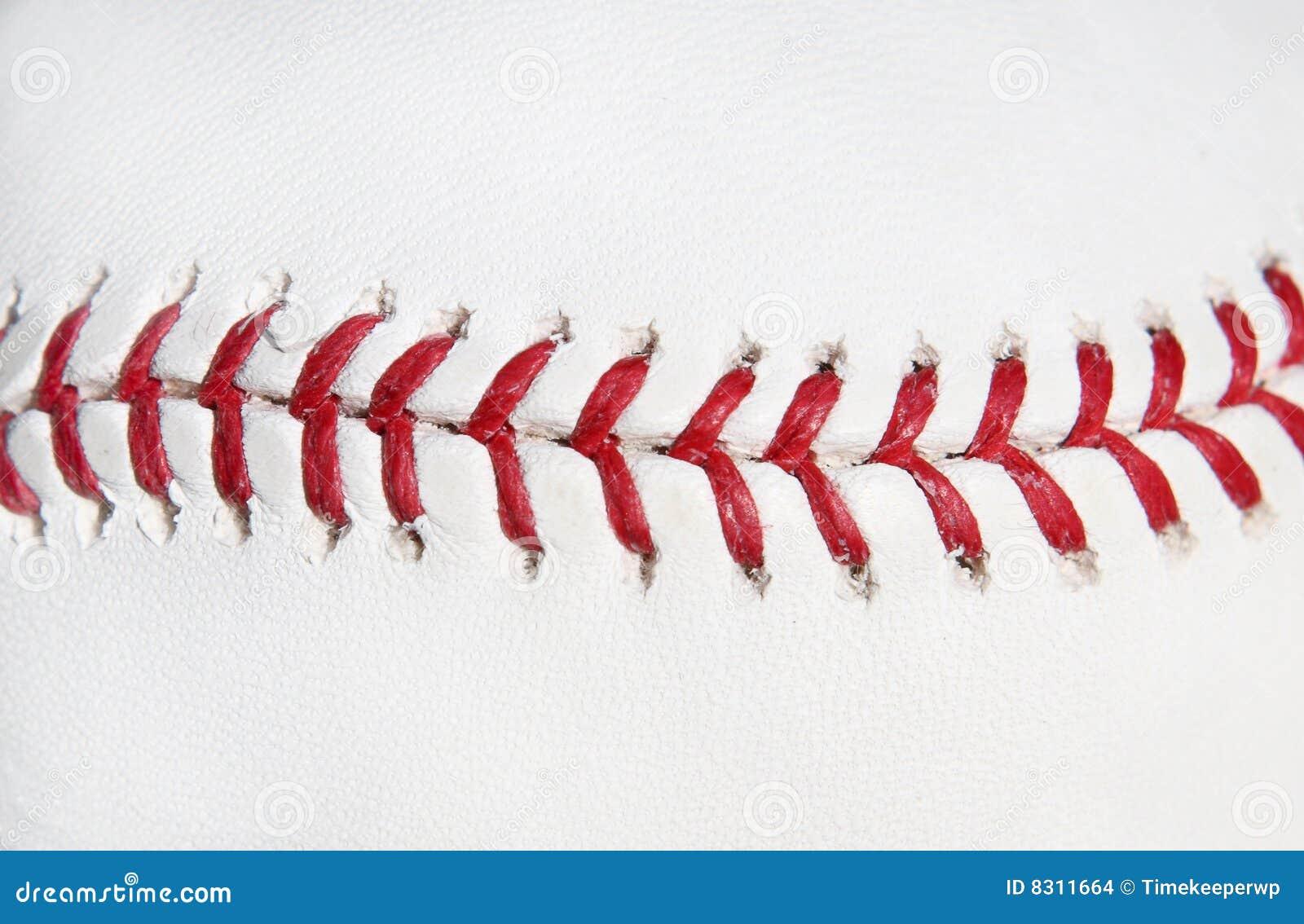 Ponto do vermelho da esfera do basebol