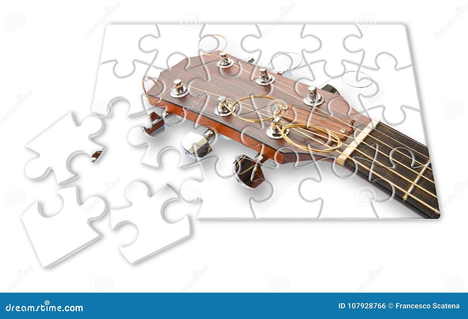 Ponto por ponto aprendendo jogar a guitarra - imagem do conceito nos gabaritos