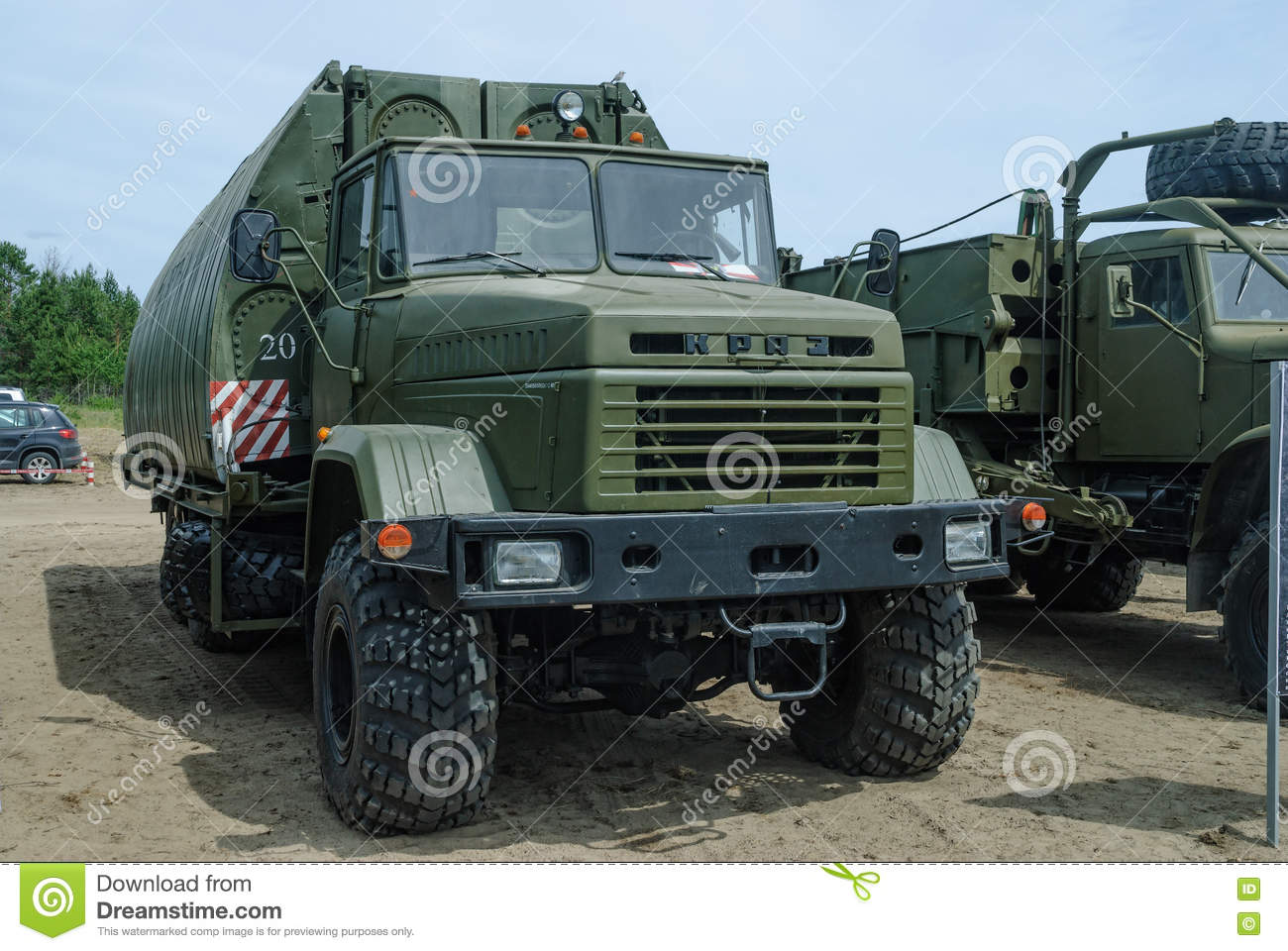 Pontoon equipage PP-91 on the basis of KRAZ
