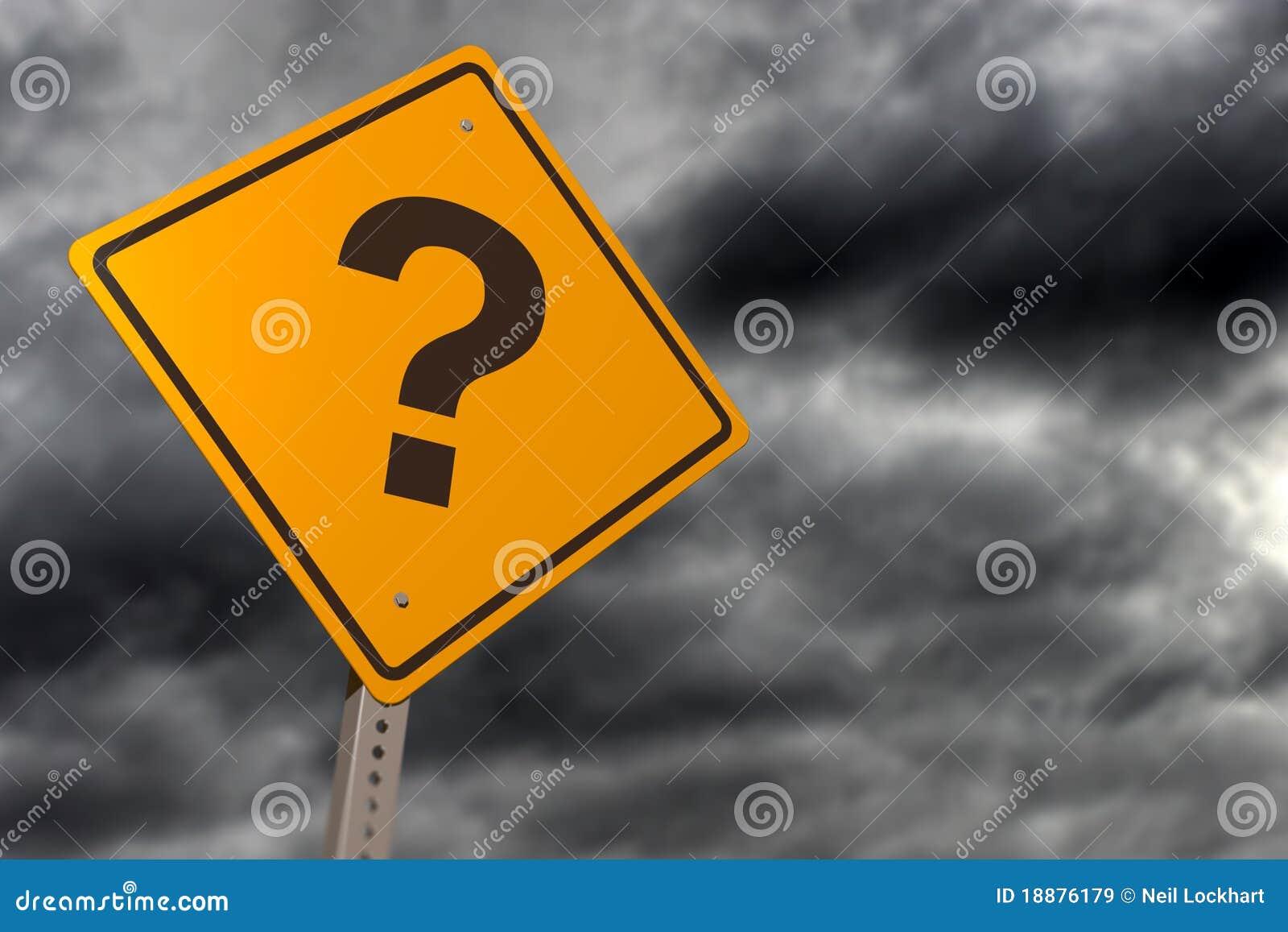 Ponurości pytania znak