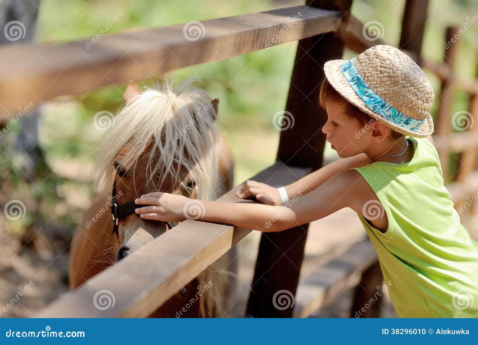 Pony and boy