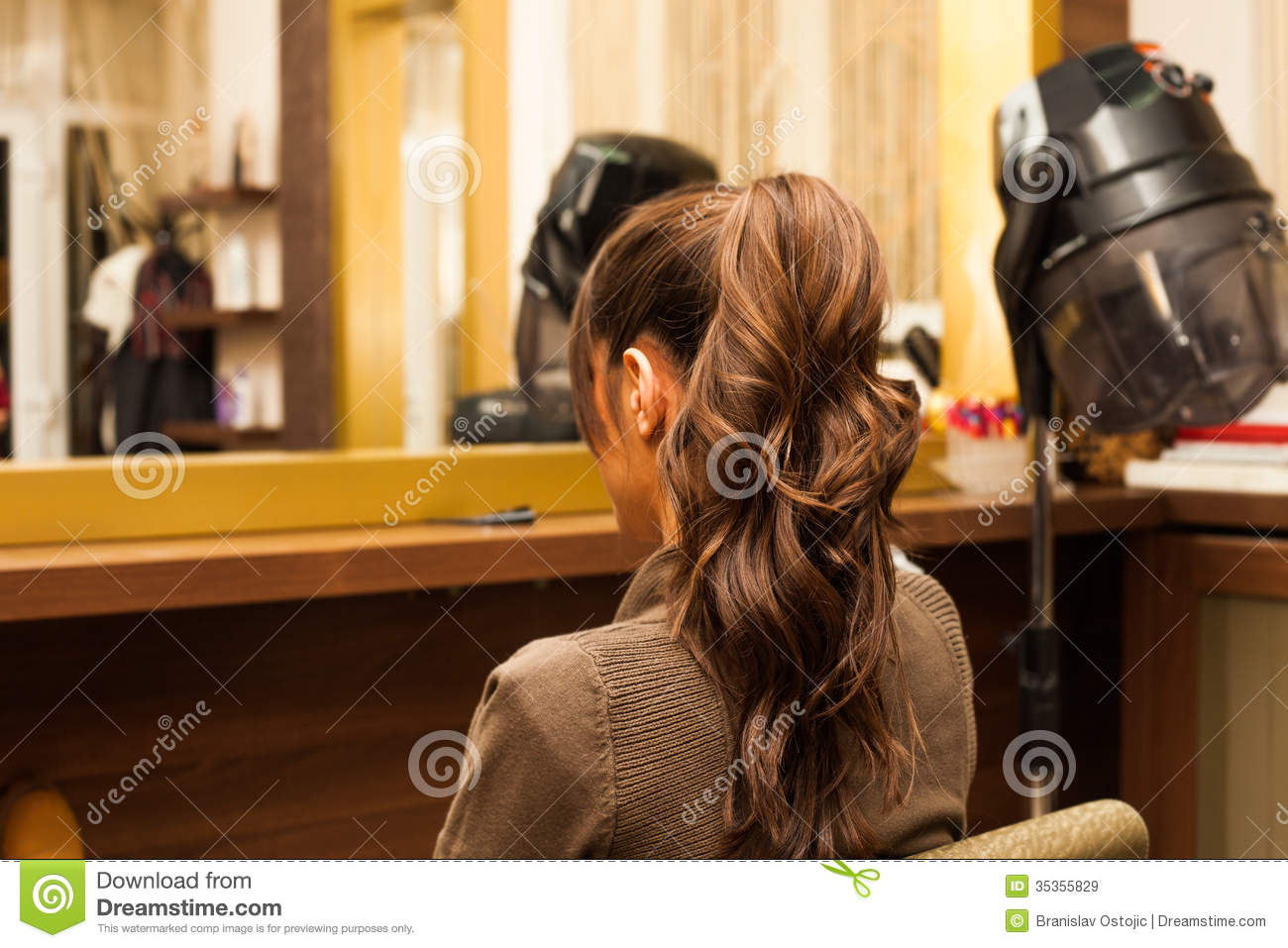 Ponytail royalty free stock images image 35355829 for Salon younga