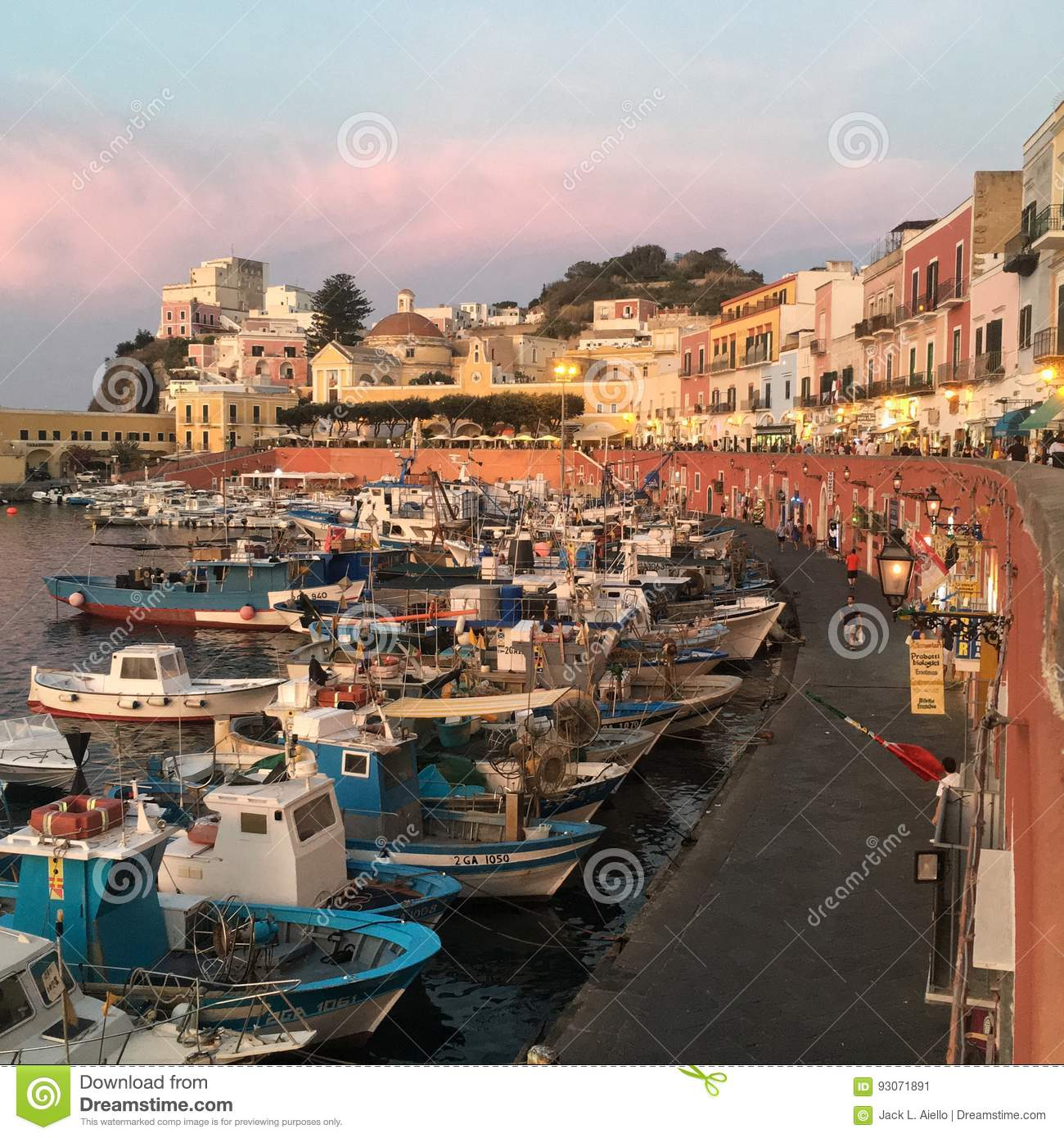 Ponza Italy Travel Editorial Photo Image Of Town Holiday 93071891