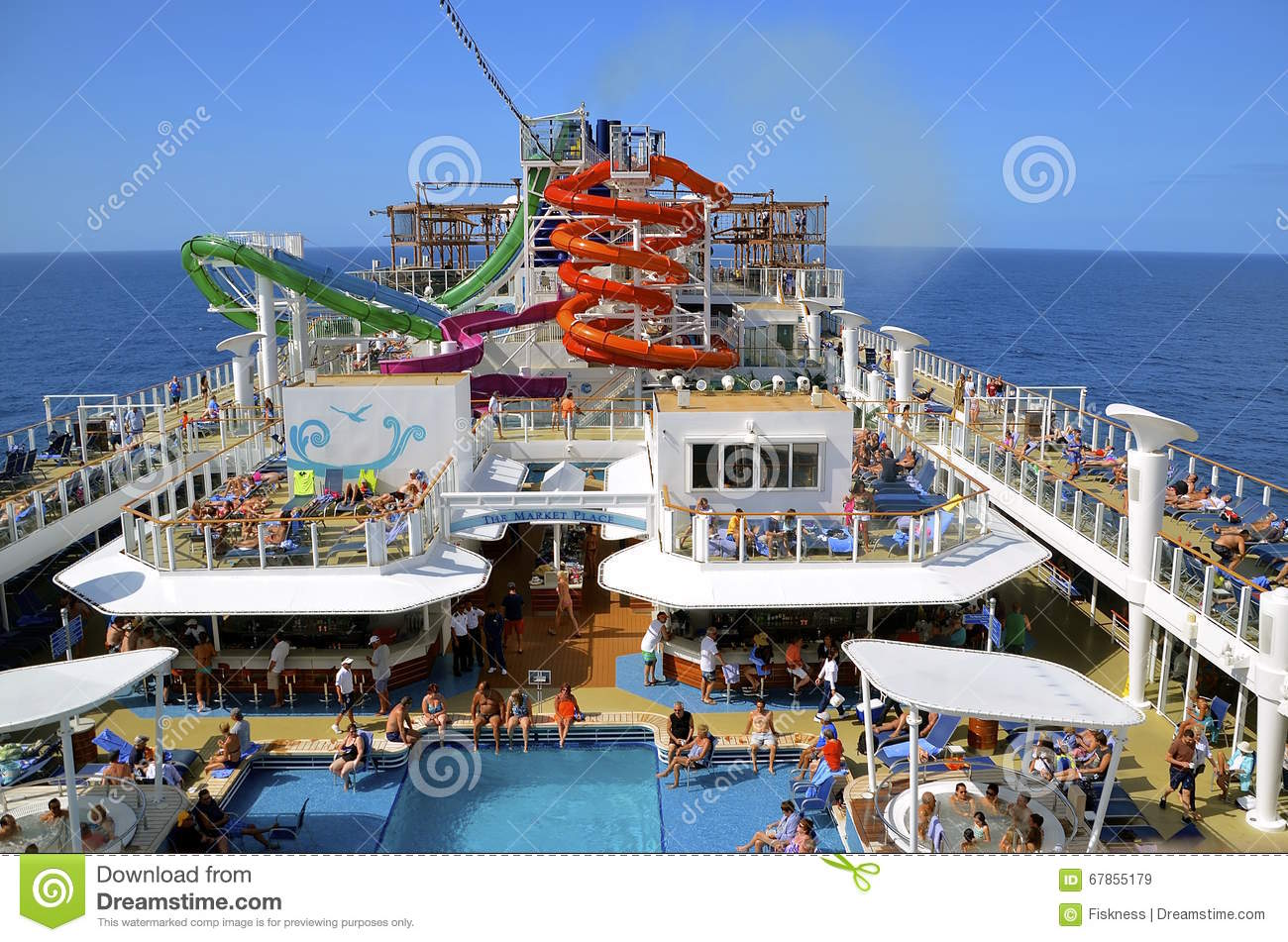 Pool Area Of A Norwegian Cruise Ship Editorial Stock Image