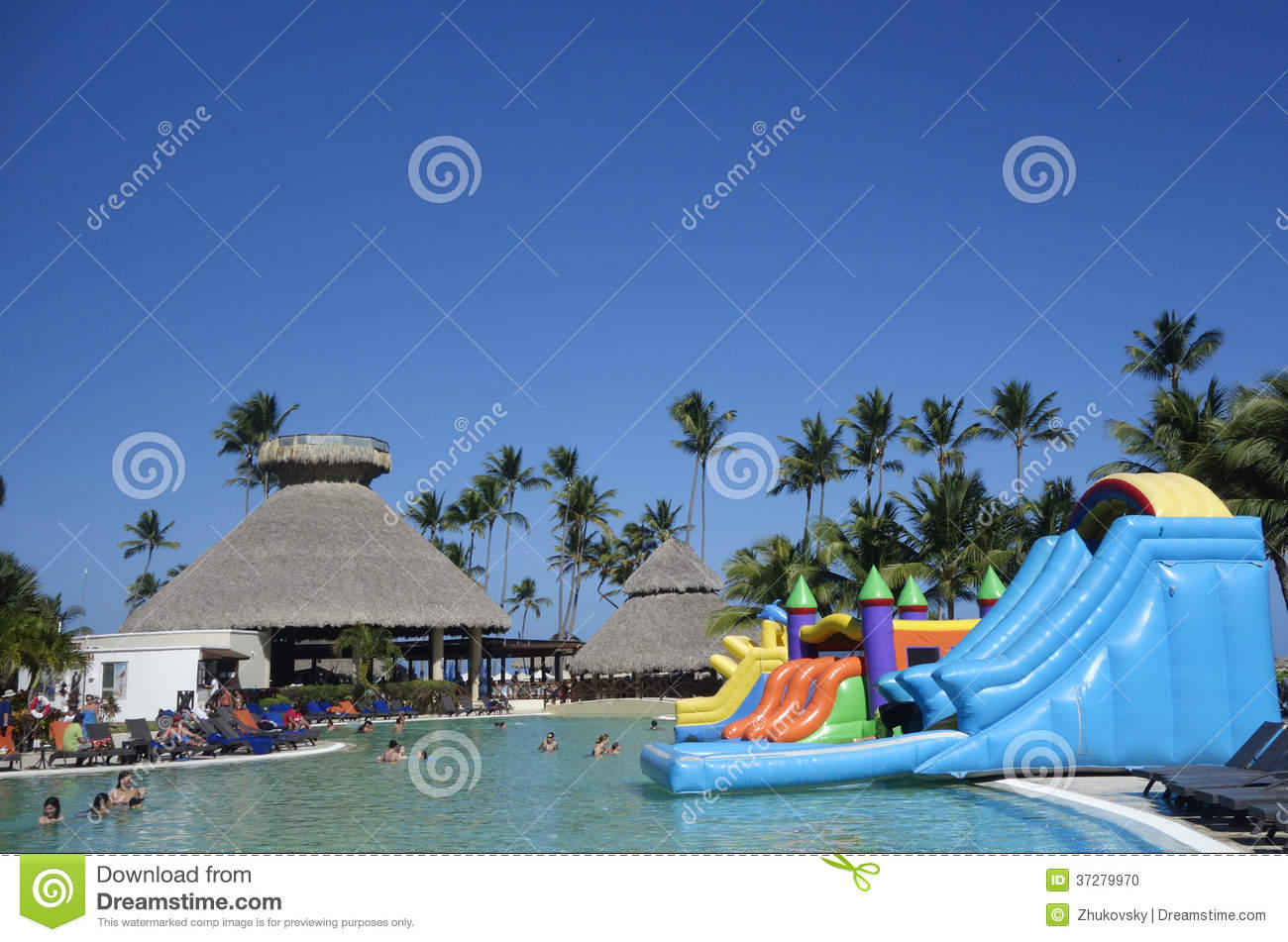 Pool Area At Now Larimar All Inclusive Hotel Located At The Bavaro Beach In Punta Cana
