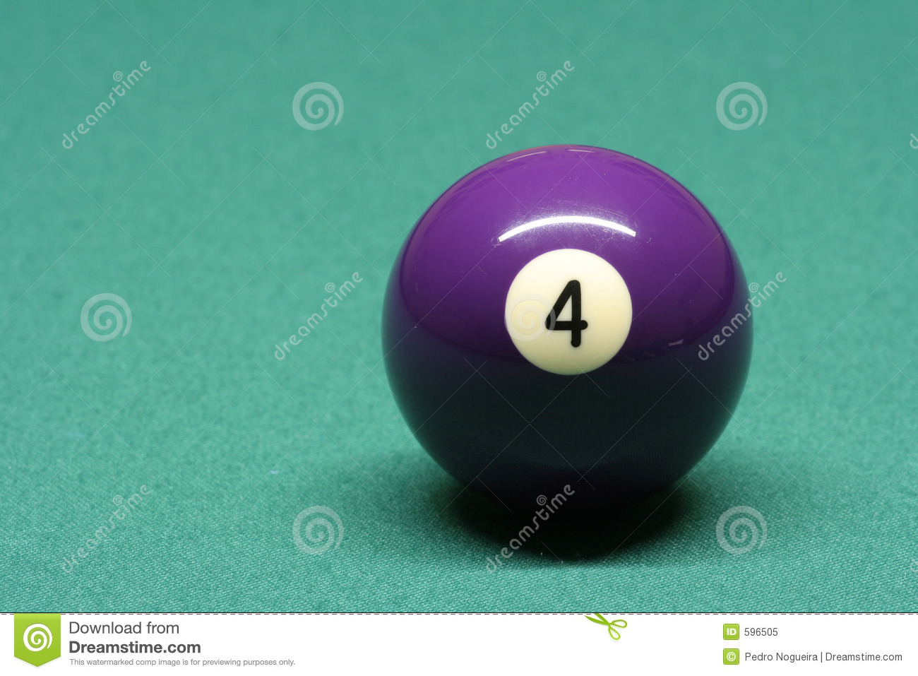 Pool ball number 04